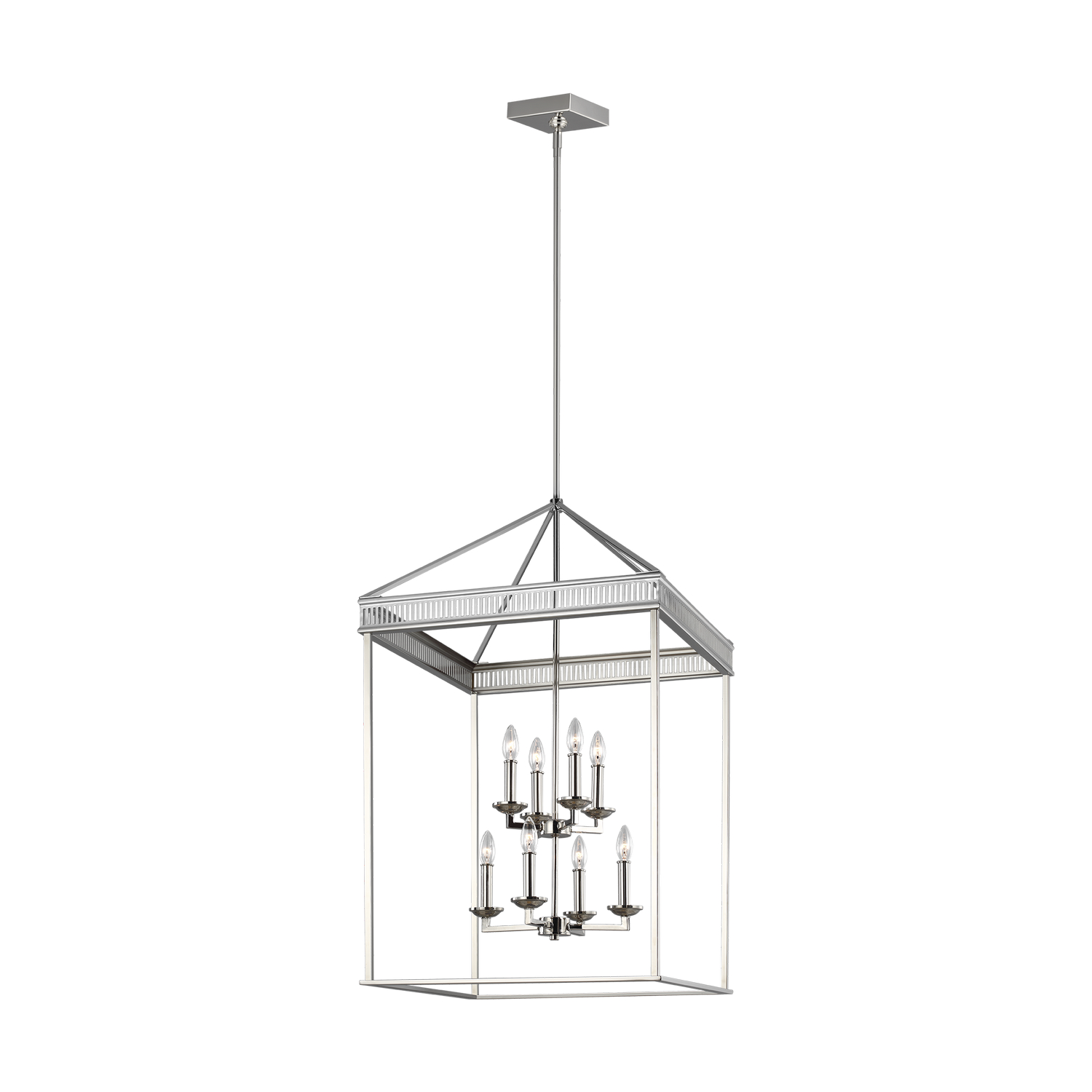 Eight Light Chandelier from the Woodruff collection by Feiss F32778PN