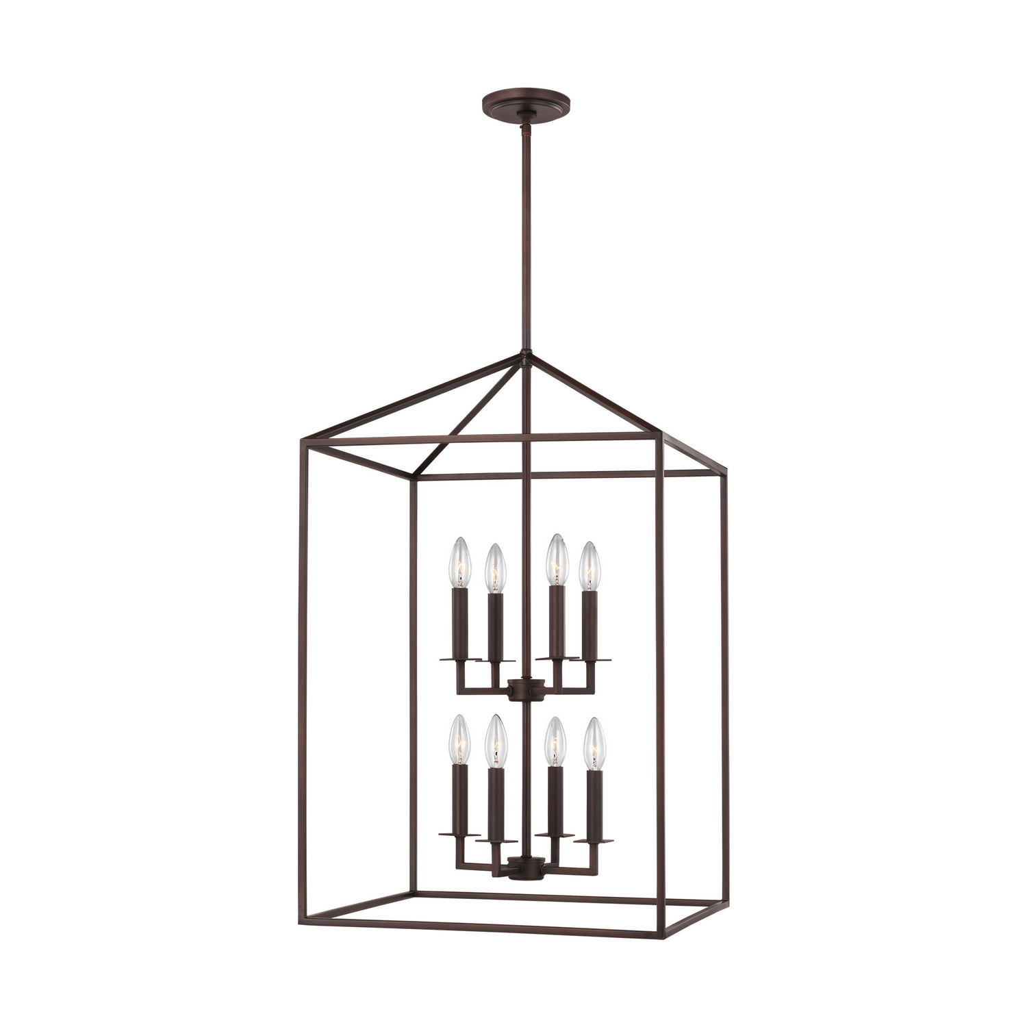 Eight Light Foyer Pendant from the Perryton collection by Seagull 5115008EN 782