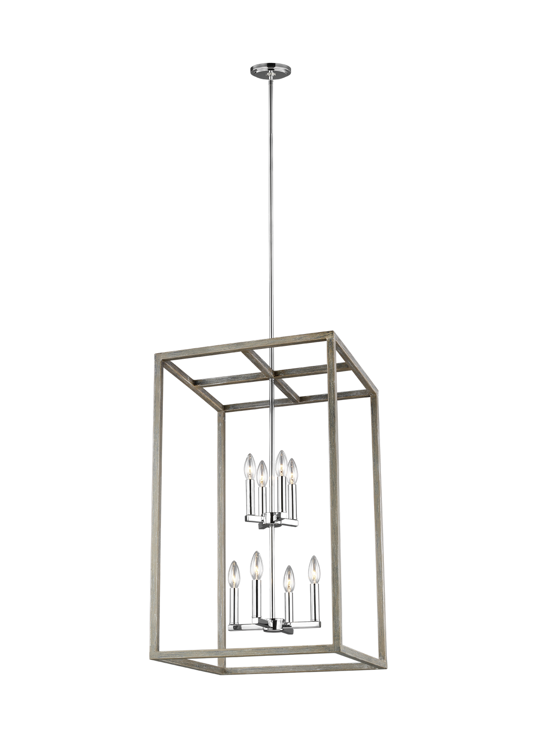 Eight Light Foyer Pendant from the Moffet Street collection by Seagull 5134508EN 872