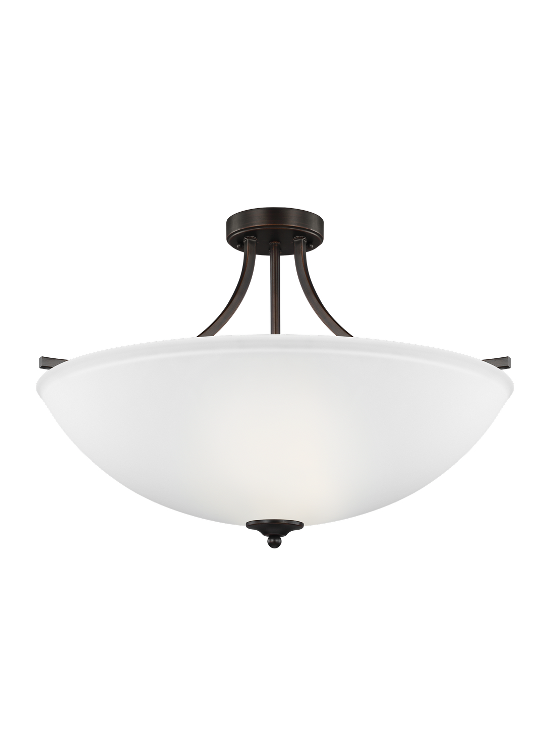 Four Light Semi-Flush Convertible Pendant
