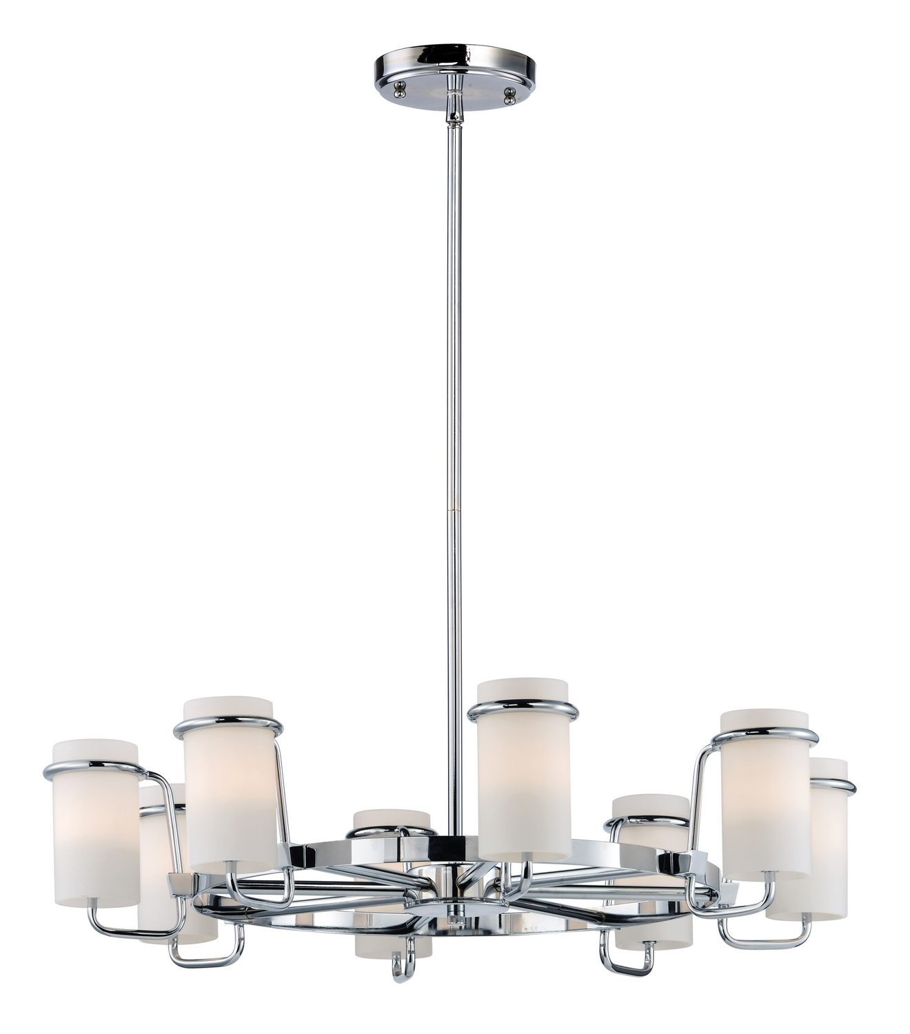 Eight Light Chandelier from the Avant collection by Maxim 22029SWPC