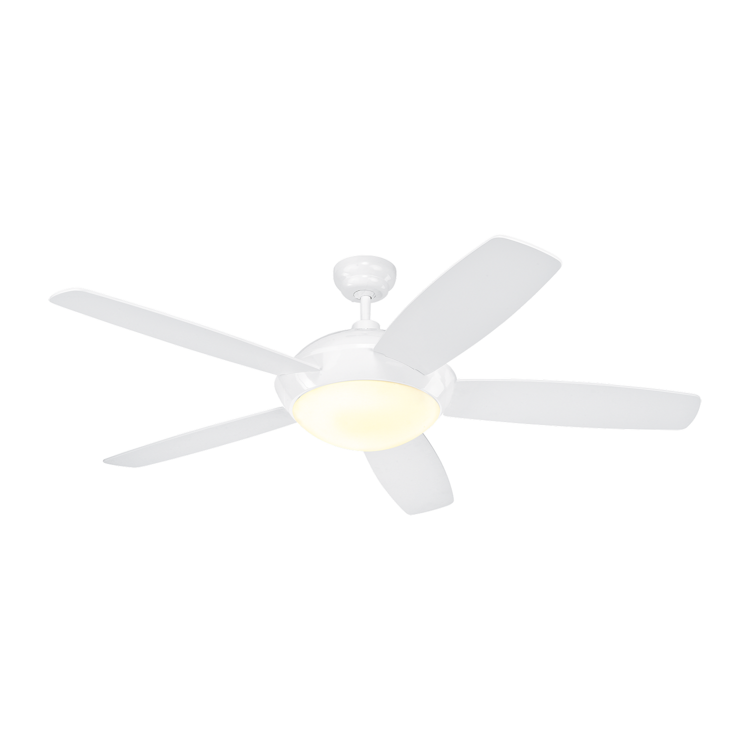 52 inchCeiling Fan from the Sleek collection by Monte Carlo 5SLR52WHD V1