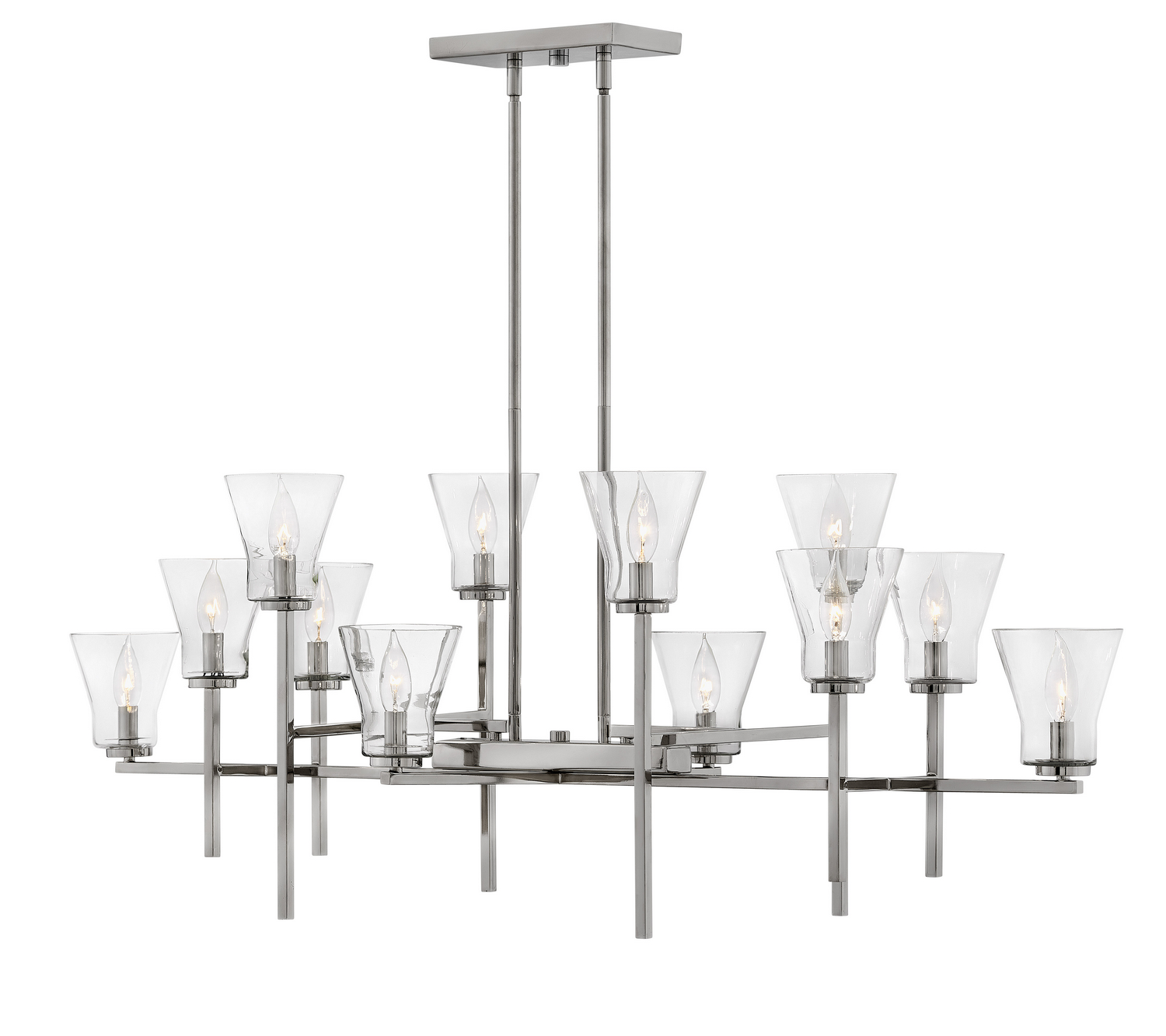 12 Light Linear Chandelier from the Arden collection by Hinkley 3459PL