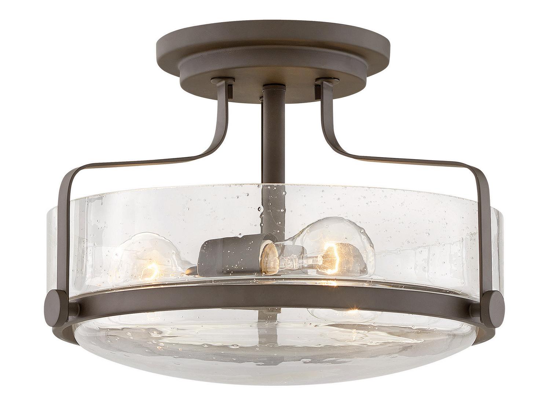 Kichler 10837NI Flush Mount Ceiling Lighting Round 26 Watts Brushed Nickel 2-Light 16 W x 7 H