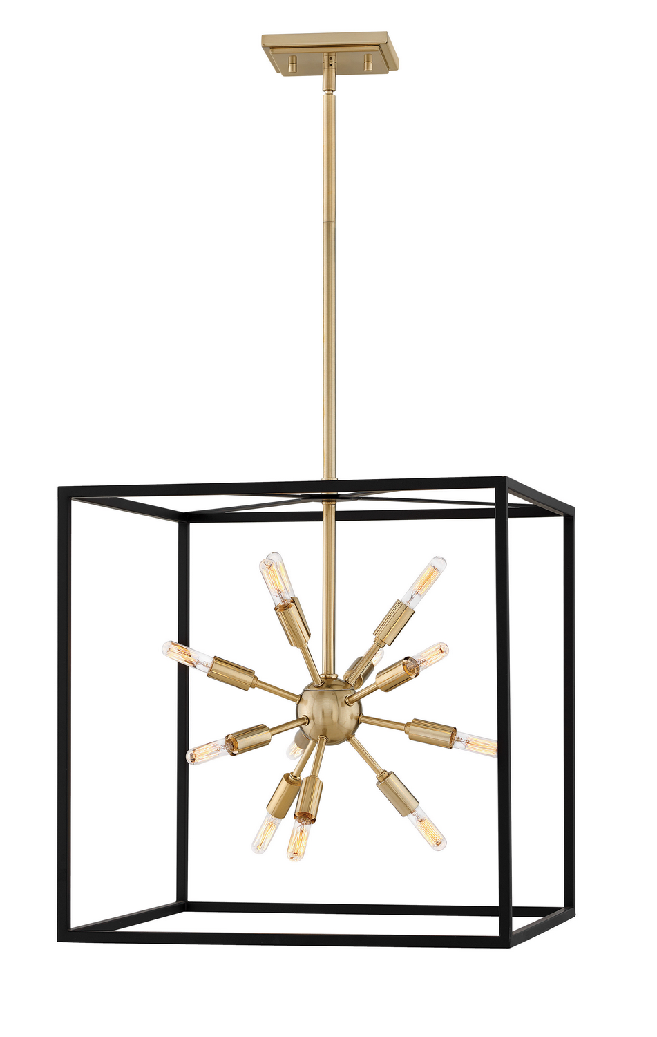 12 Light Pendant from the Aros collection by Hinkley 46314BLK
