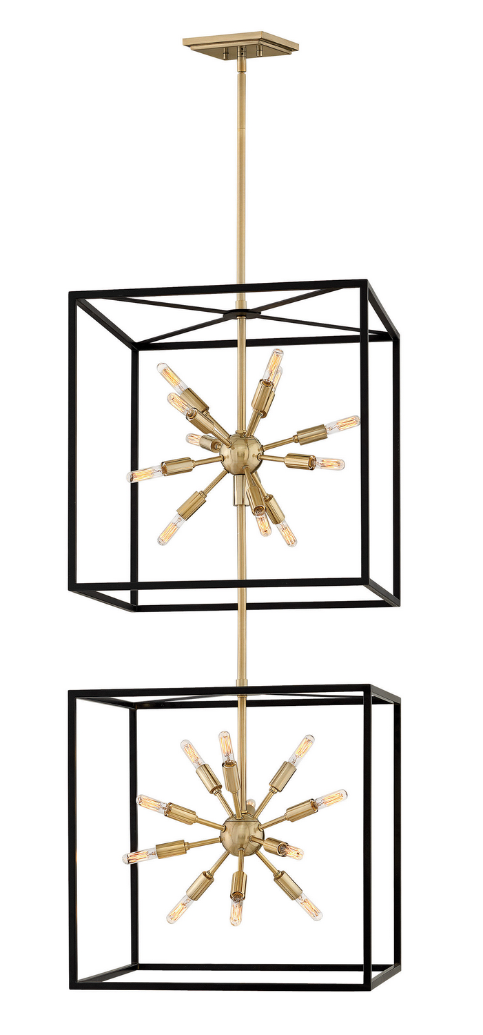 24 Light Chandelier from the Aros collection by Hinkley 46316BLK