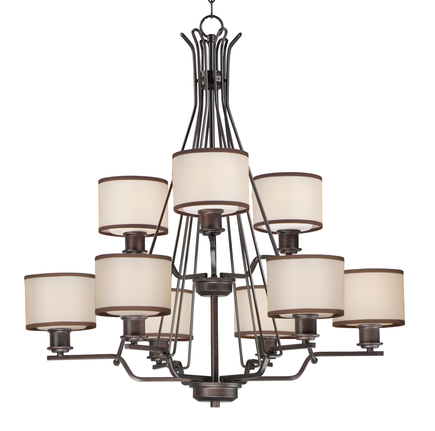 12 Light Chandelier from the Bon Ton collection by Maxim 26048SWCOOI