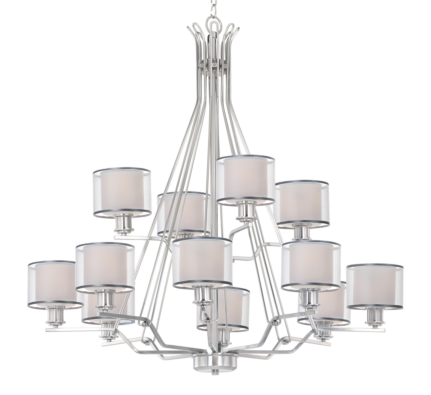 12 Light Chandelier from the Bon Ton collection by Maxim 26048SWWOSN