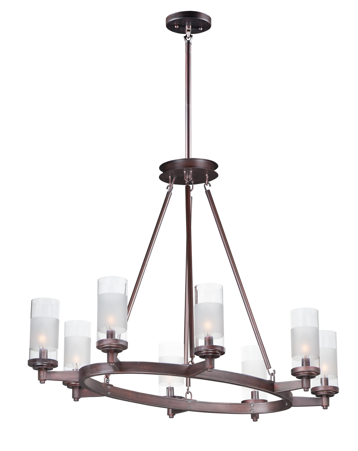 Eight Light Chandelier from the Crescendo collection by Maxim 26328CLFTOI