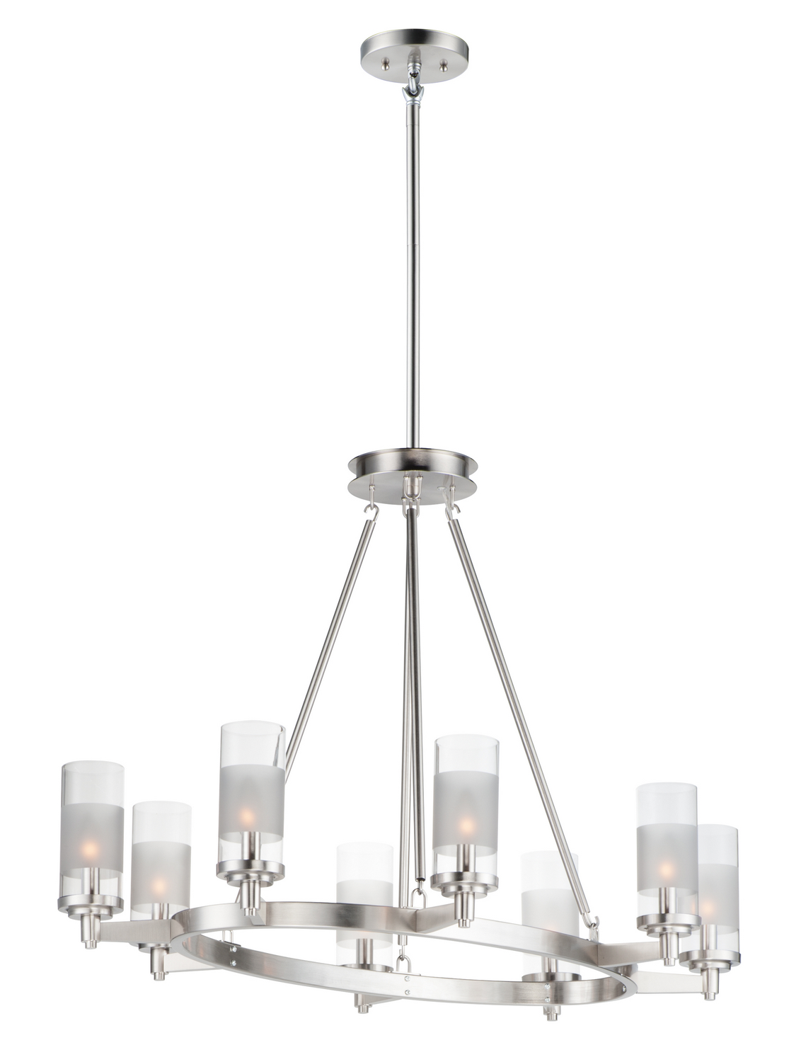 Eight Light Chandelier from the Crescendo collection by Maxim 26328CLFTSN