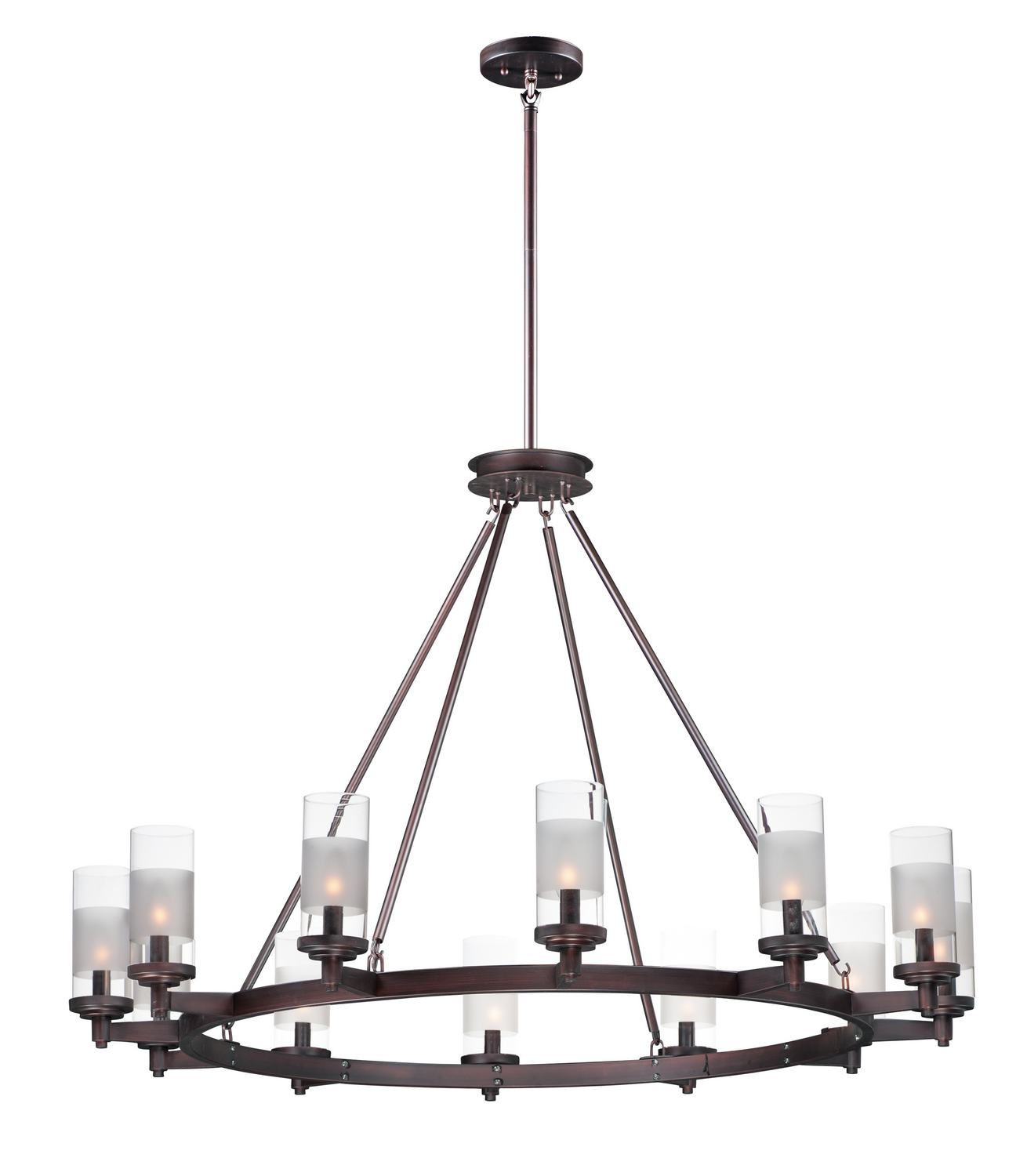 12 Light Chandelier from the Crescendo collection by Maxim 26329CLFTOI