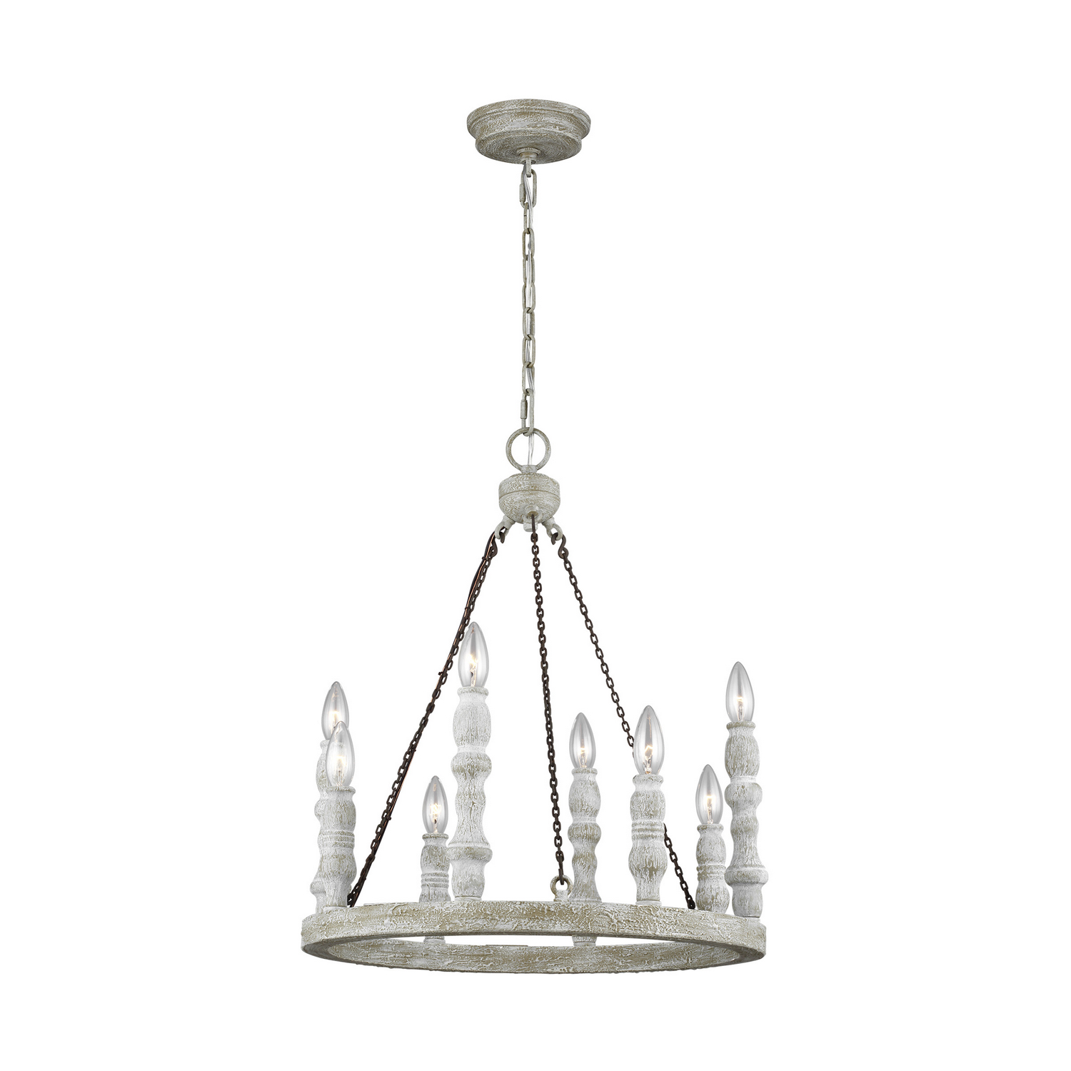 Eight Light Chandelier from the Norridge collection by Feiss F31408DFBDWH