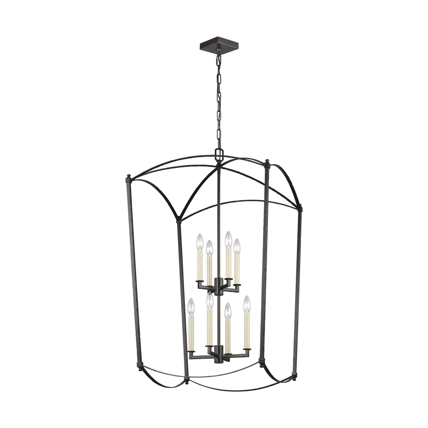 Eight Light Chandelier from the Thayer collection by Feiss F33248SMS