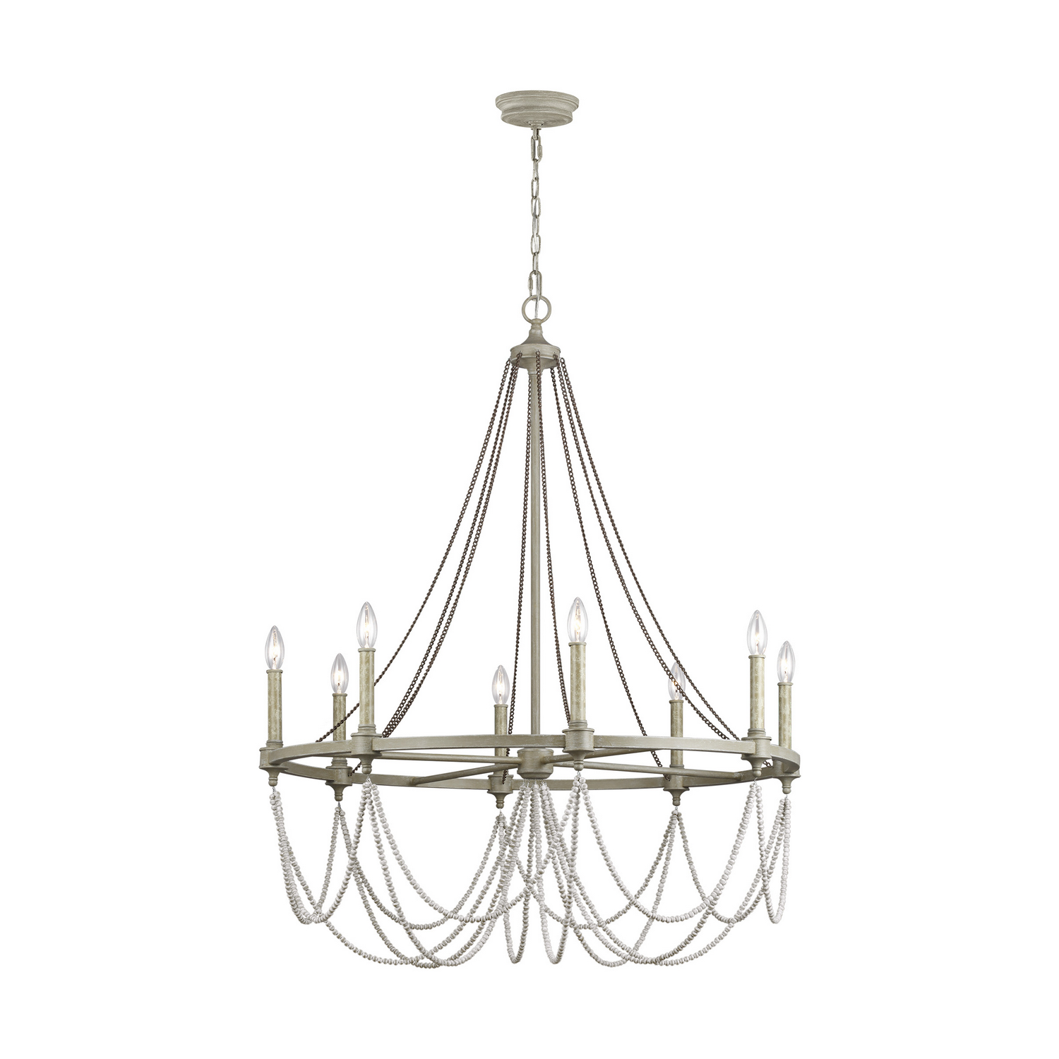Eight Light Chandelier from the Beverly collection by Feiss F33328FWODWW