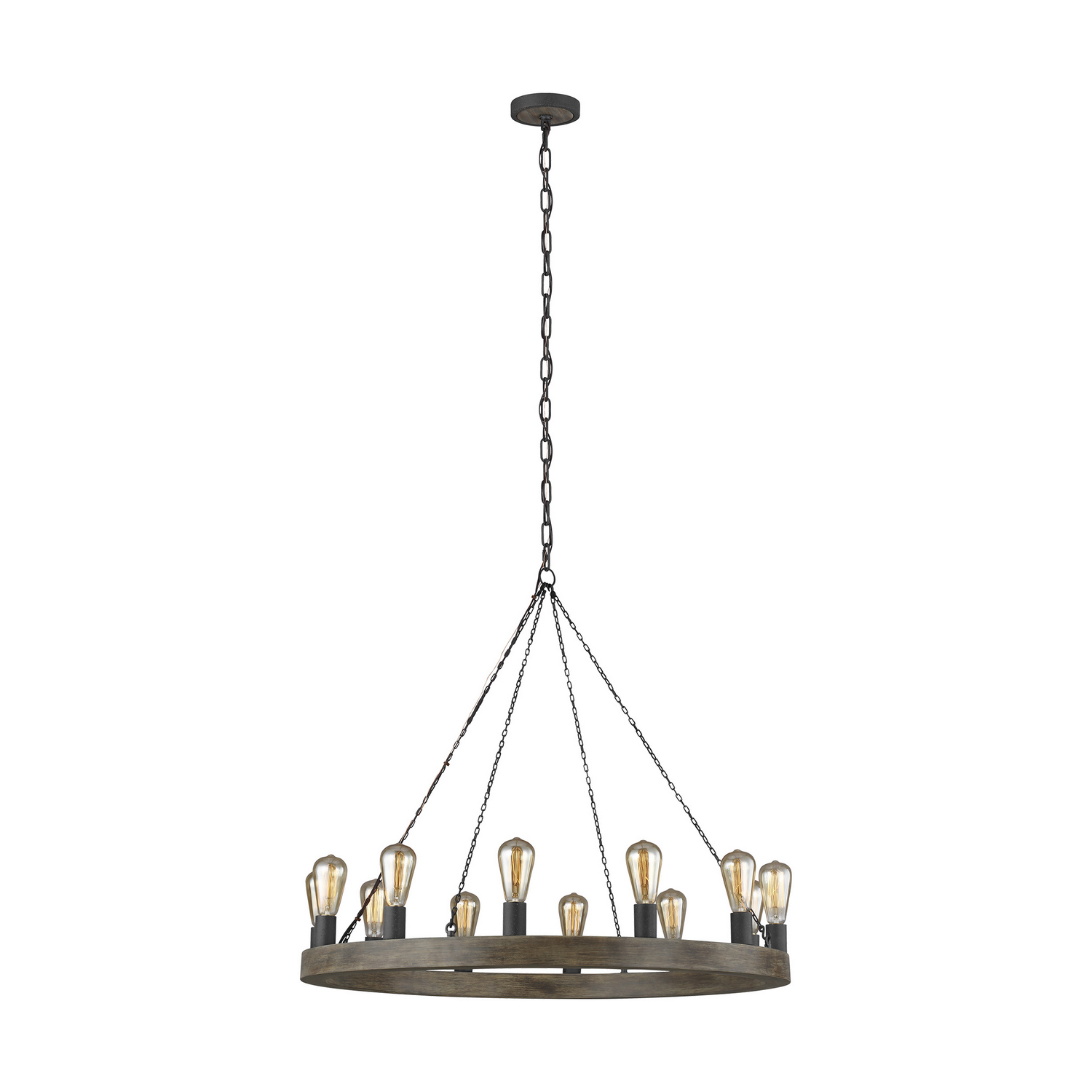 12 Light Chandelier from the Avenir collection by Feiss F393212WOWAF