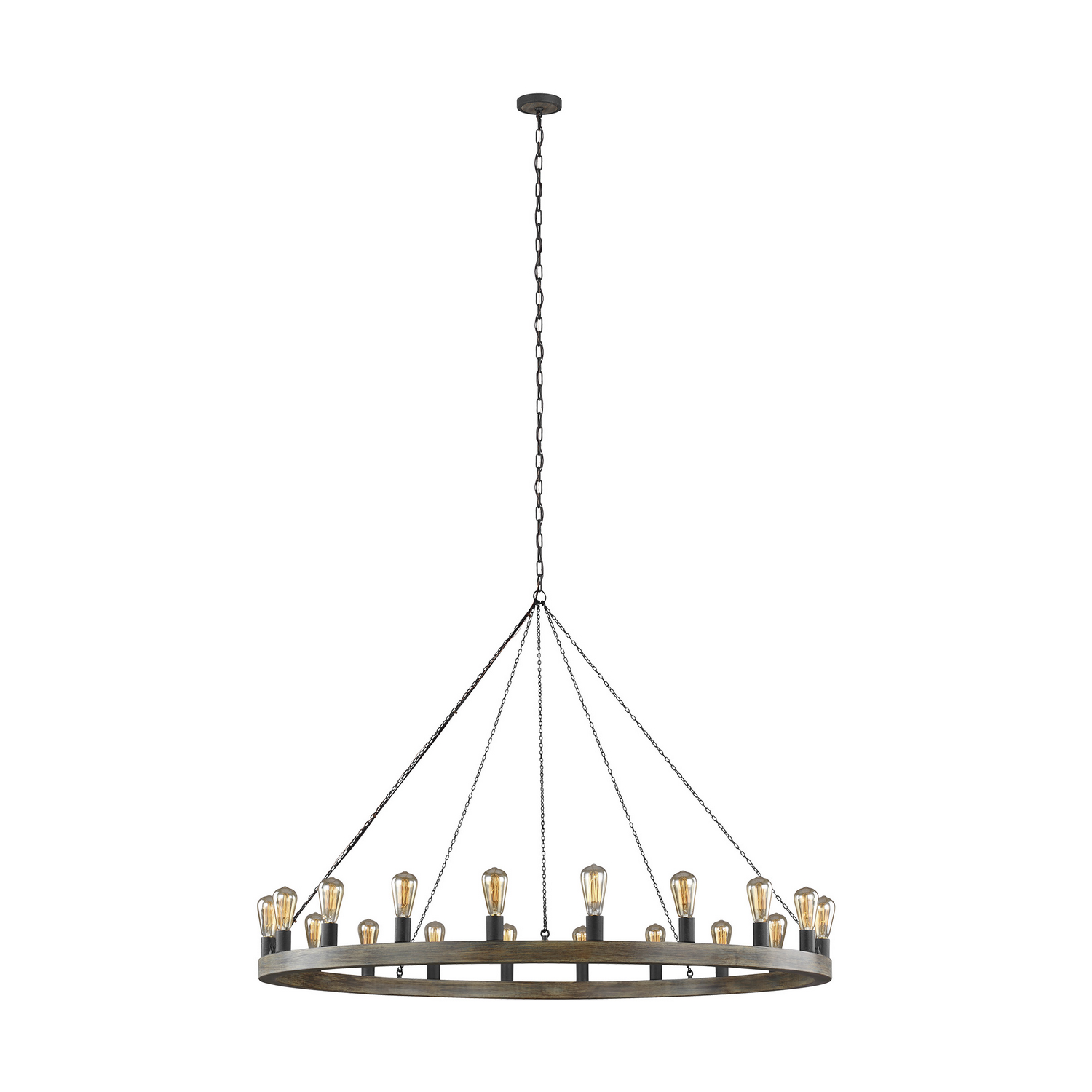20 Light Chandelier from the Avenir collection by Feiss F393320WOWAF