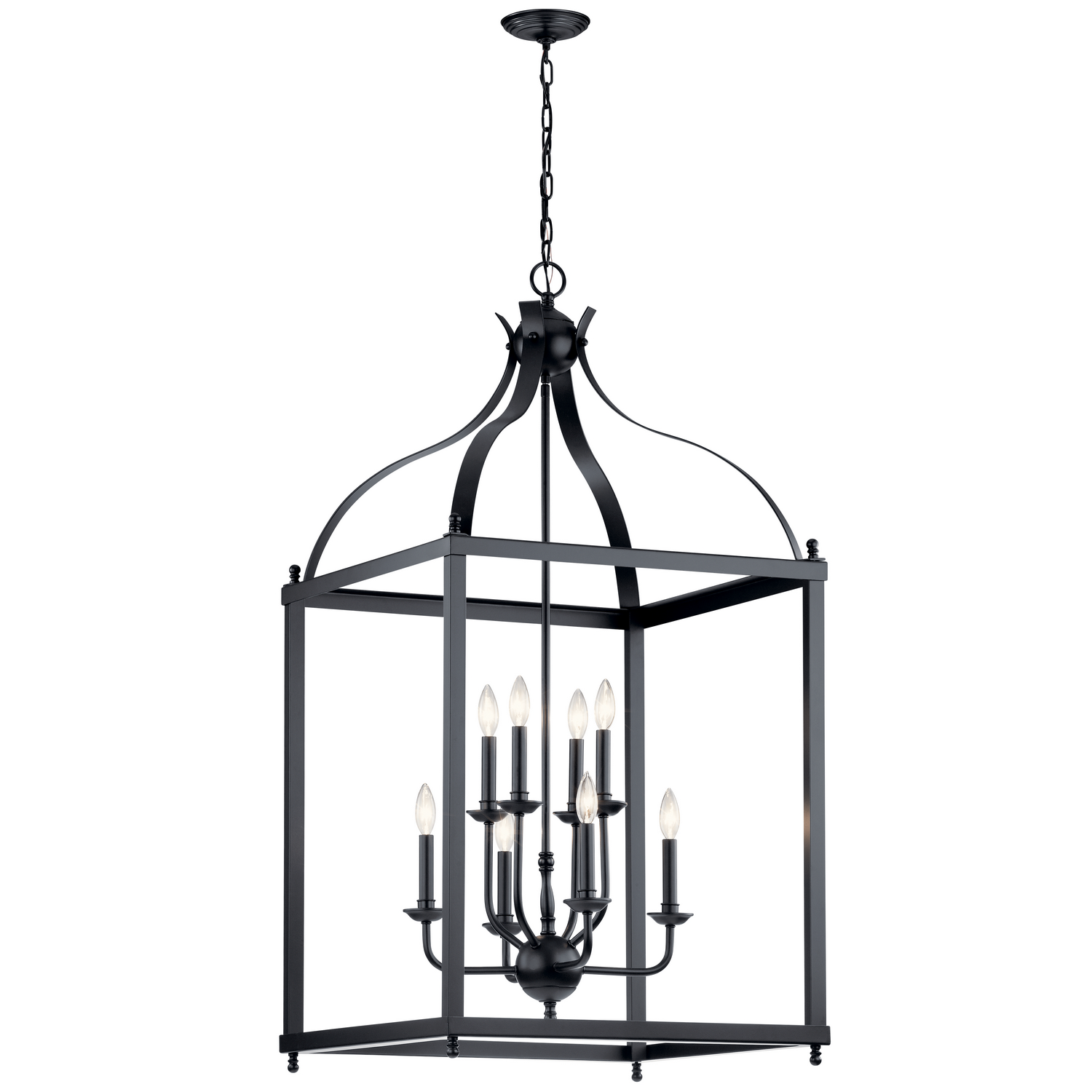 Eight Light Foyer Pendant from the Larkin collection by Kichler 42591BK