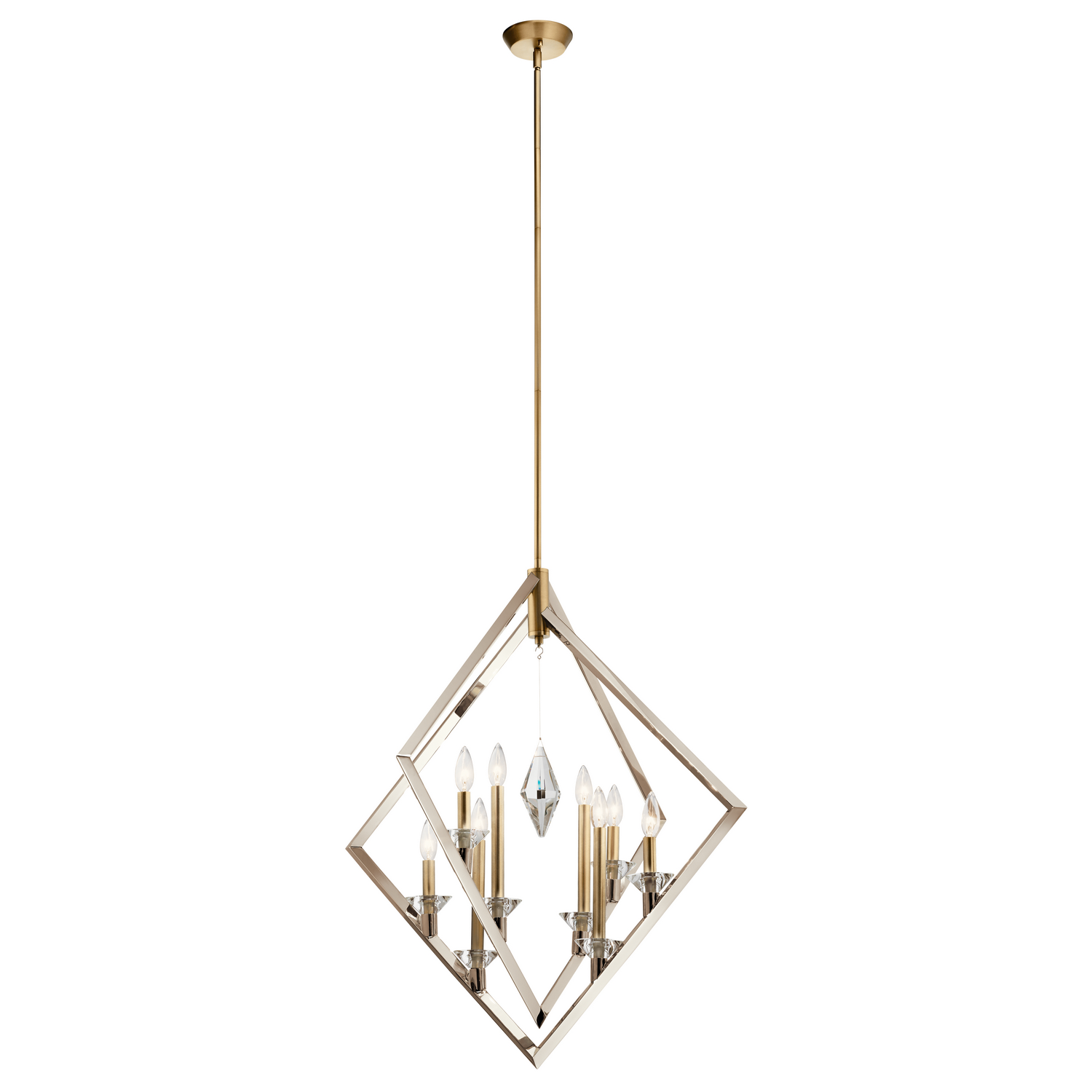 Eight Light Foyer Pendant from the Layan collection by Kichler 43052PN
