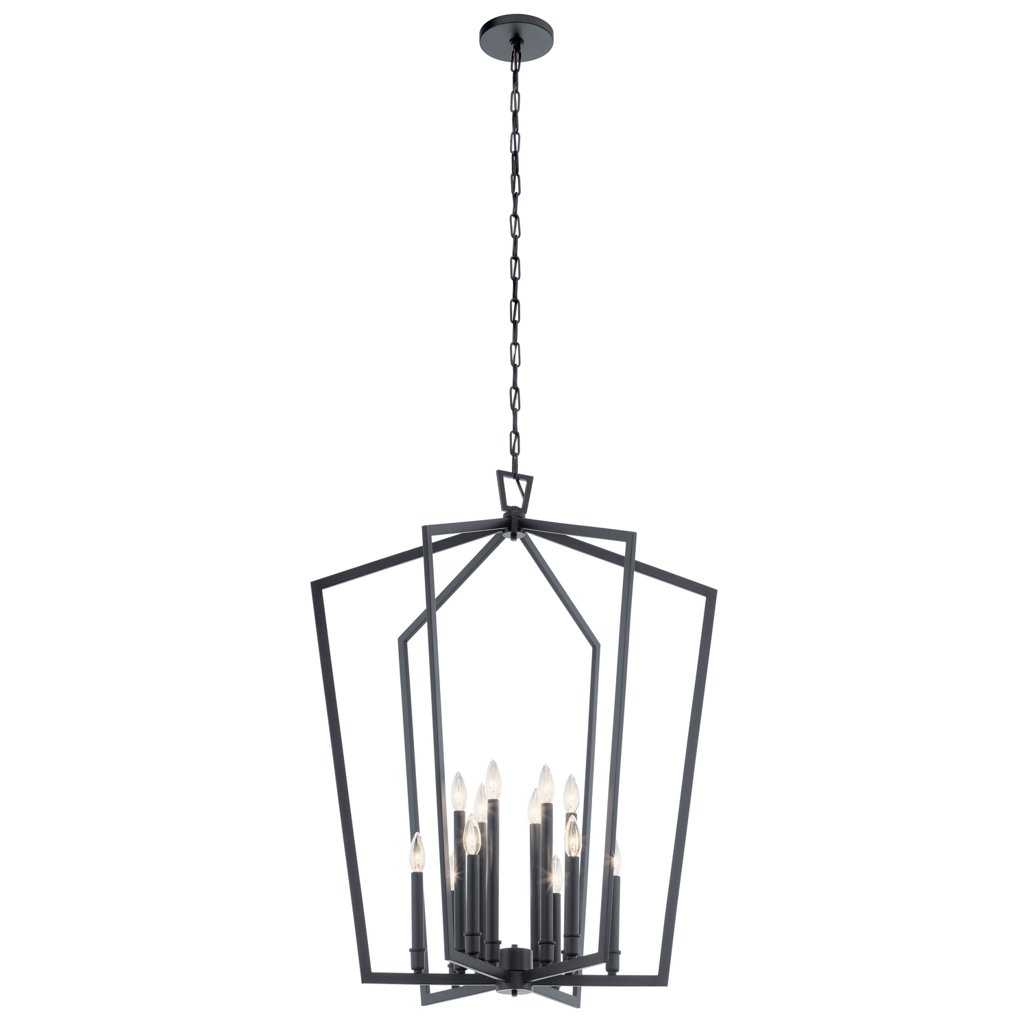 12 Light Foyer Pendant from the Abbotswell collection by Kichler 43496BK