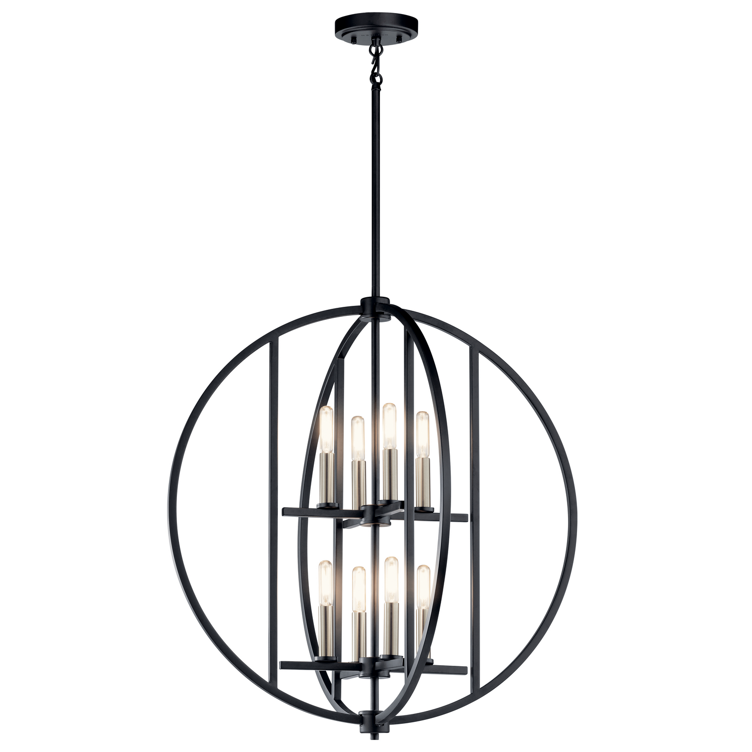 Eight Light Chandelier from the Samural collection by Kichler 43643BK