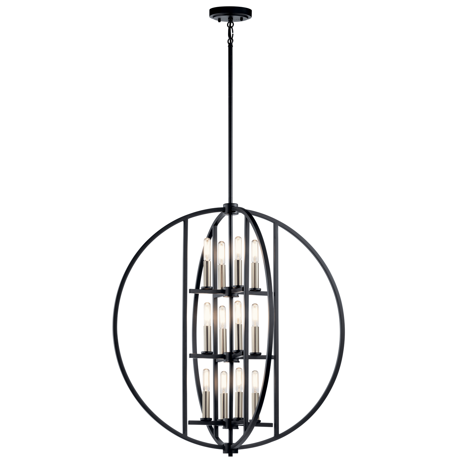 12 Light Chandelier from the Samural collection by Kichler 43644BK