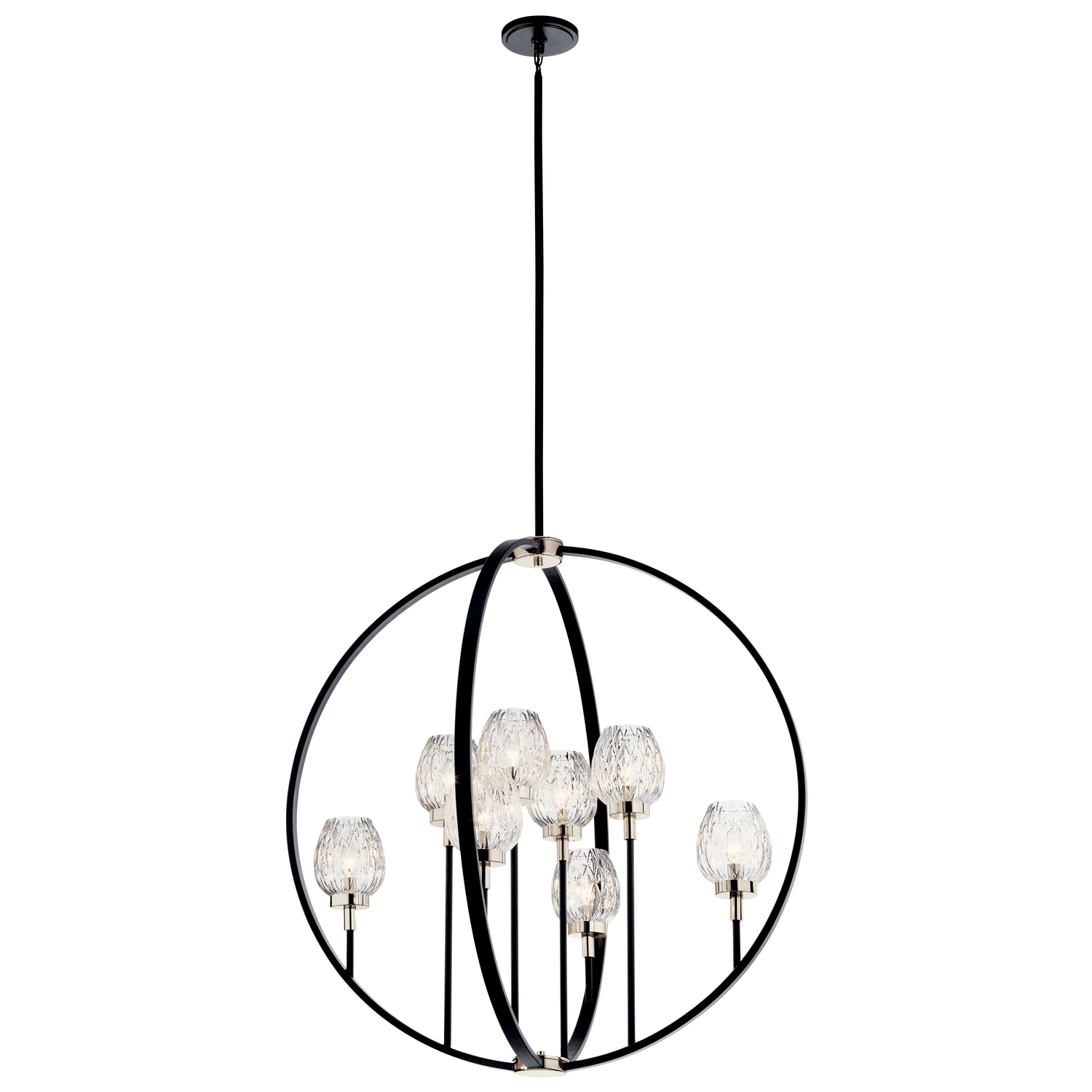 Eight Light Chandelier from the Moyra collection by Kichler 44240BK