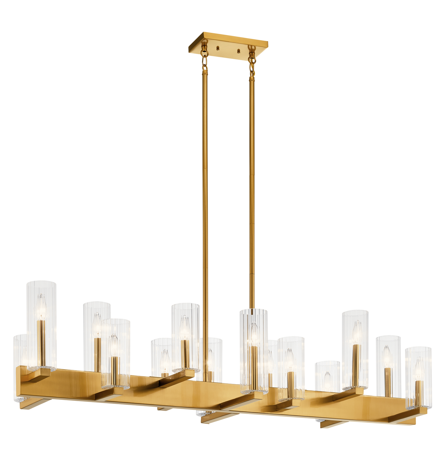 14 Light Linear Chandelier from the Cleara collection by Kichler 44317FXG