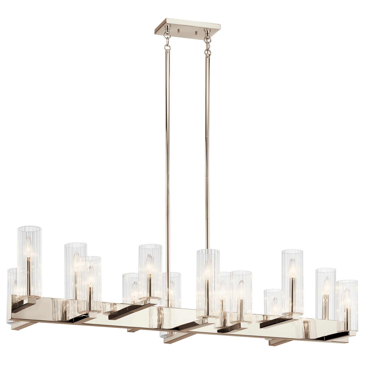 14 Light Linear Chandelier from the Cleara collection by Kichler 44317PN