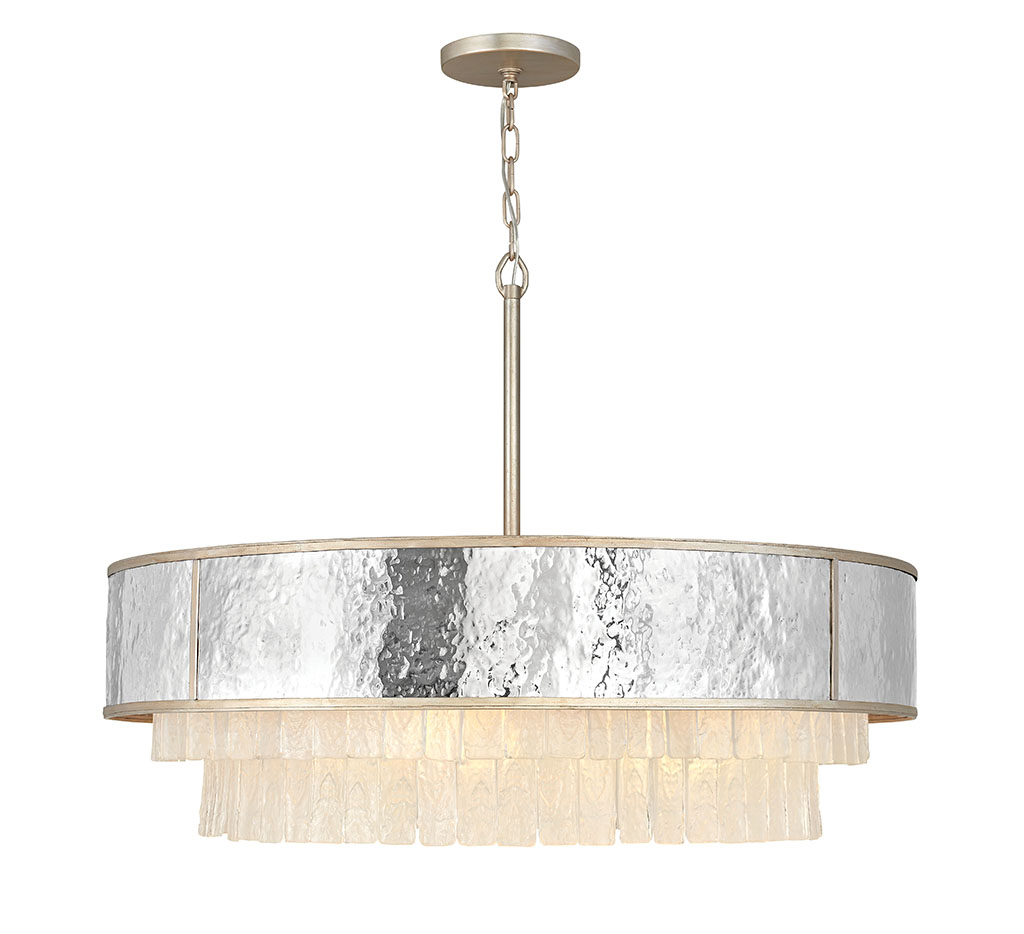 Eight Light Chandelier from the Reverie collection by Fredrick Ramond FR32708CPG