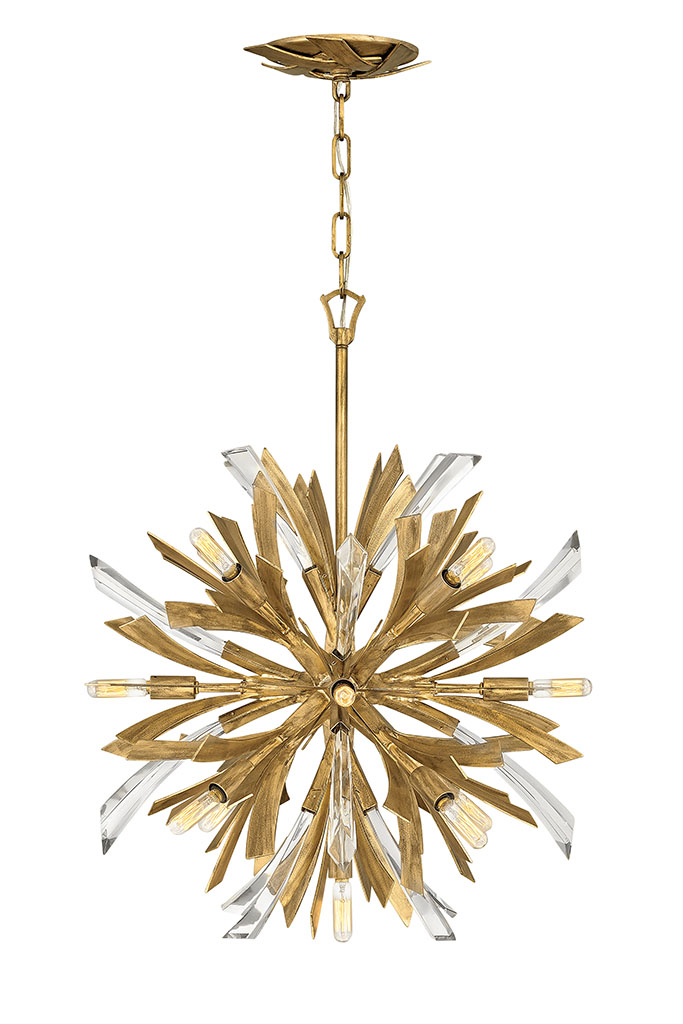 13 Light Chandelier from the Vida collection by Fredrick Ramond FR40904BNG