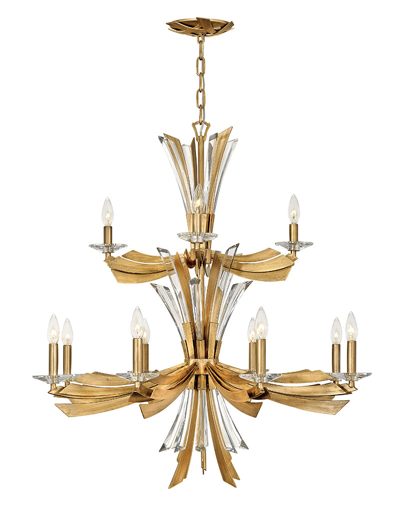 12 Light Chandelier from the Vida collection by Fredrick Ramond FR40909BNG
