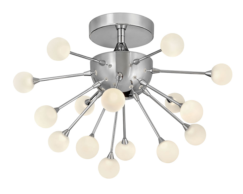 15 Light Foyer Pendant from the Impulse collection by Fredrick Ramond FR44411PCM