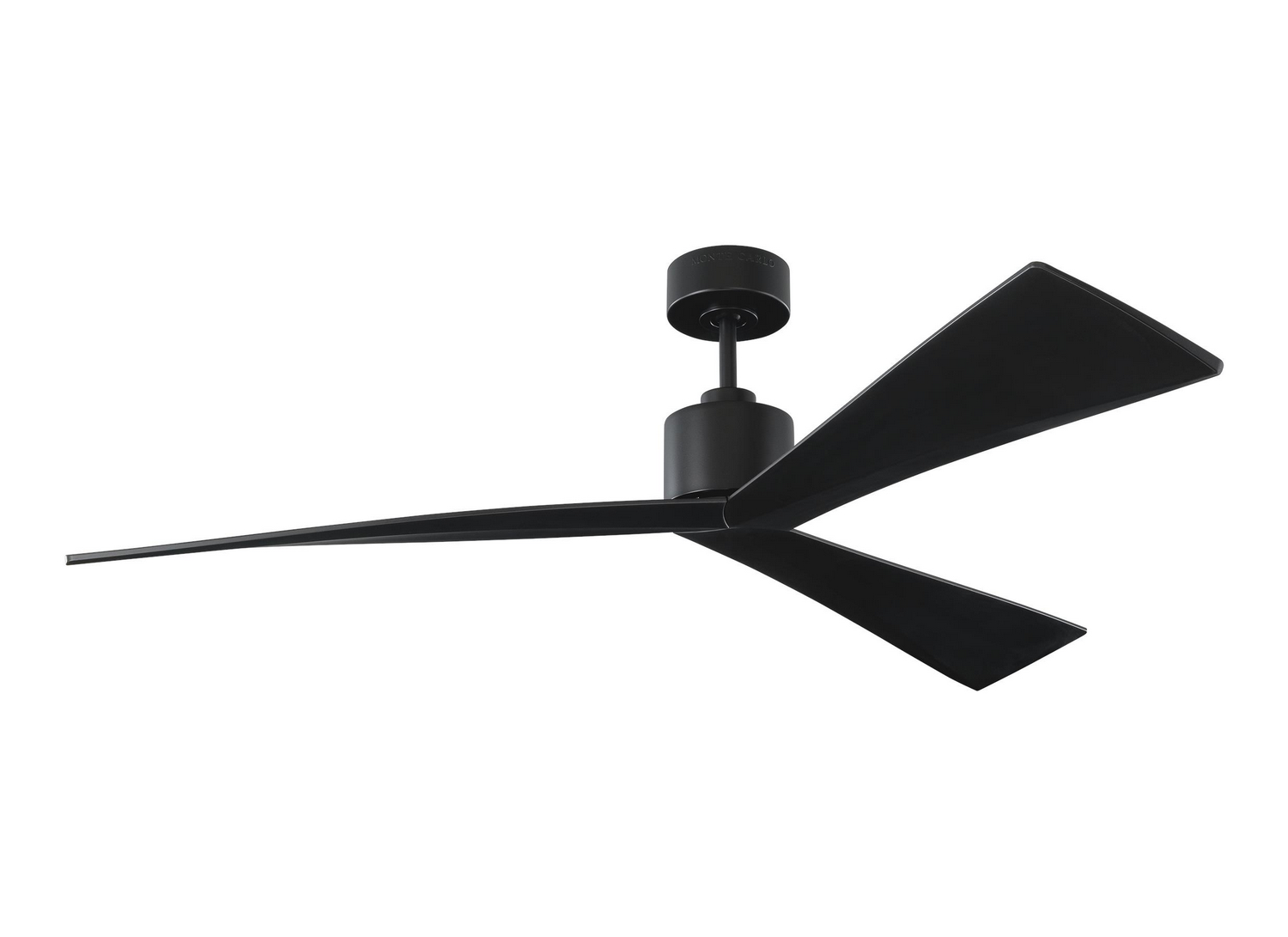 60 inchCeiling Fan from the Adler collection by Monte Carlo 3ADR60BKBK