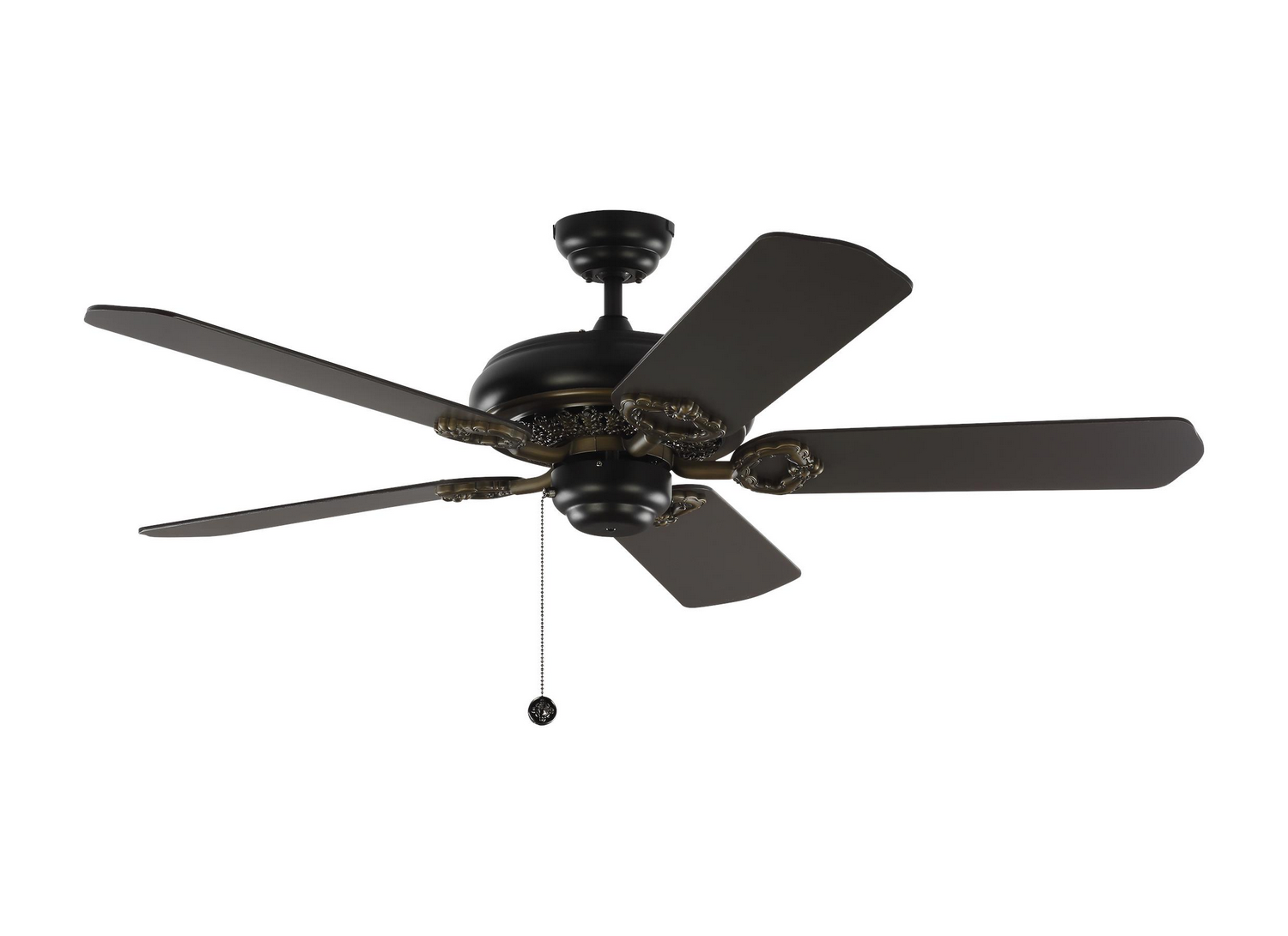 52 inchCeiling Fan from the York 52 collection by Monte Carlo 5YK52BK