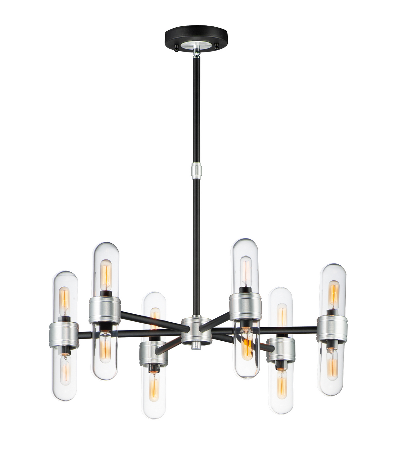 12 Light Chandelier from the Dual collection by Maxim 21706CLBKAL