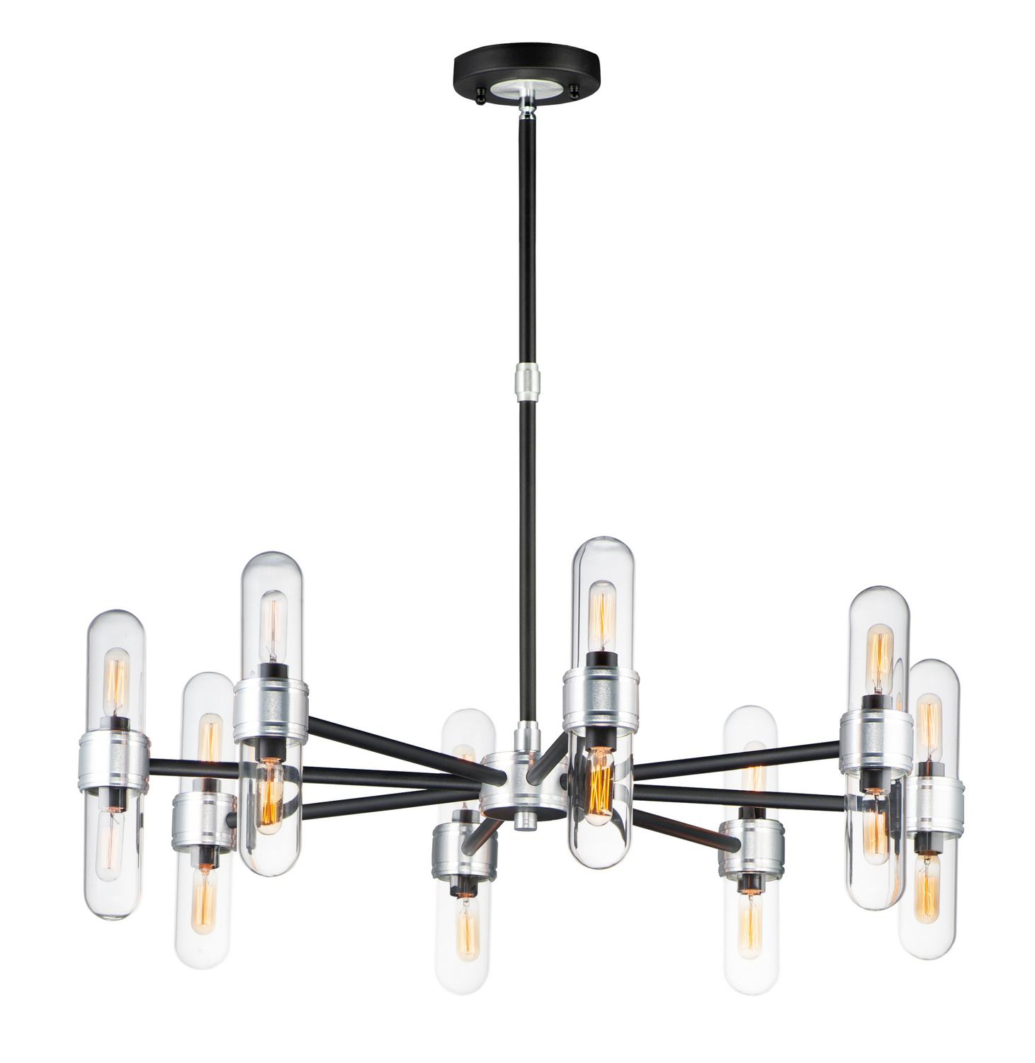 16 Light Chandelier from the Dual collection by Maxim 21708CLBKAL