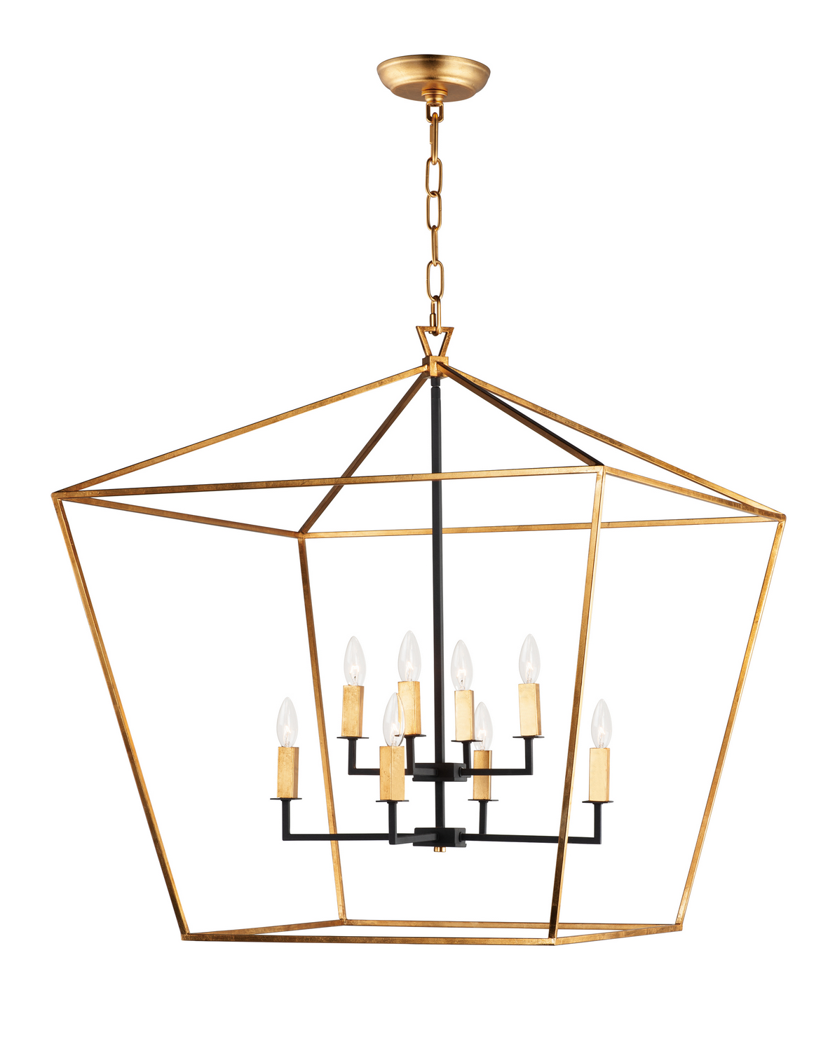 Eight Light Chandelier from the Abode collection by Maxim 25154GLTXB