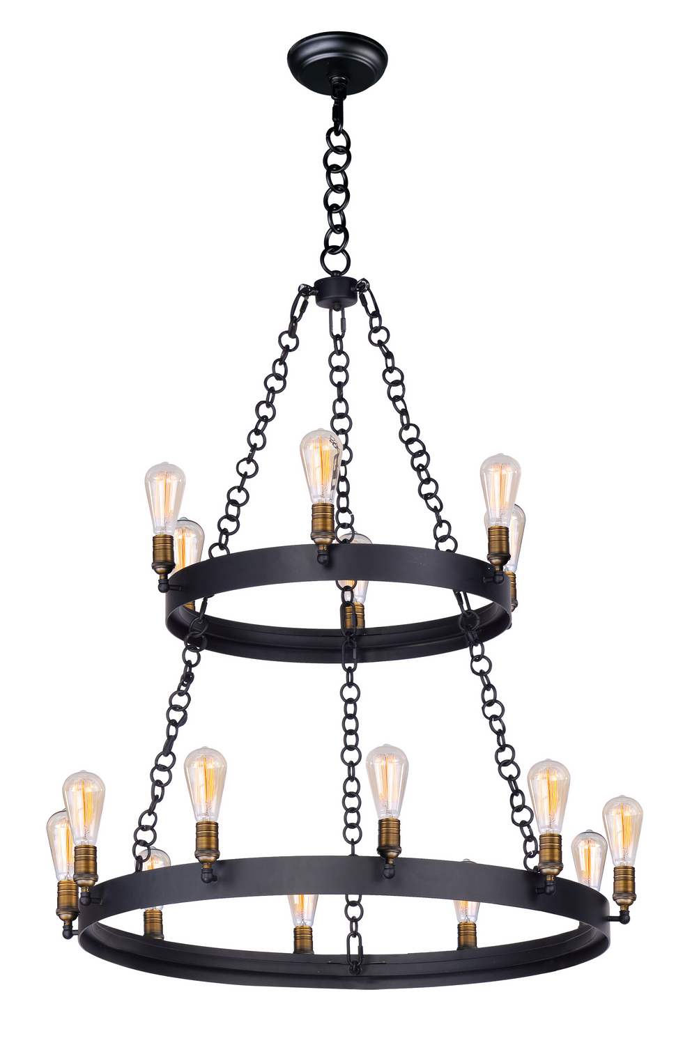 16 Light Chandelier from the Noble collection by Maxim 26277BKNABBUI