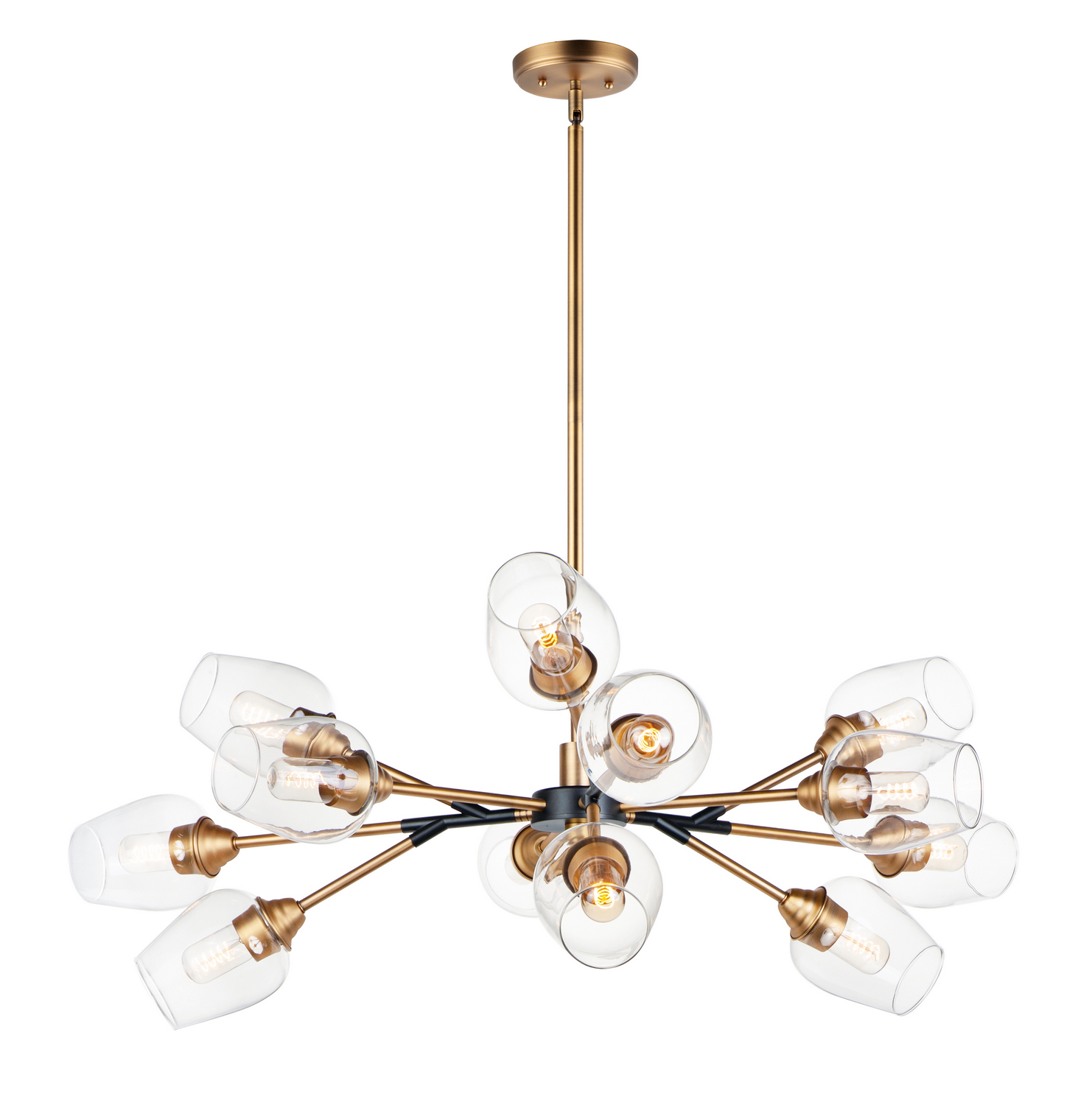 12 Light Chandelier from the Savvy collection by Maxim 26347CLABBK