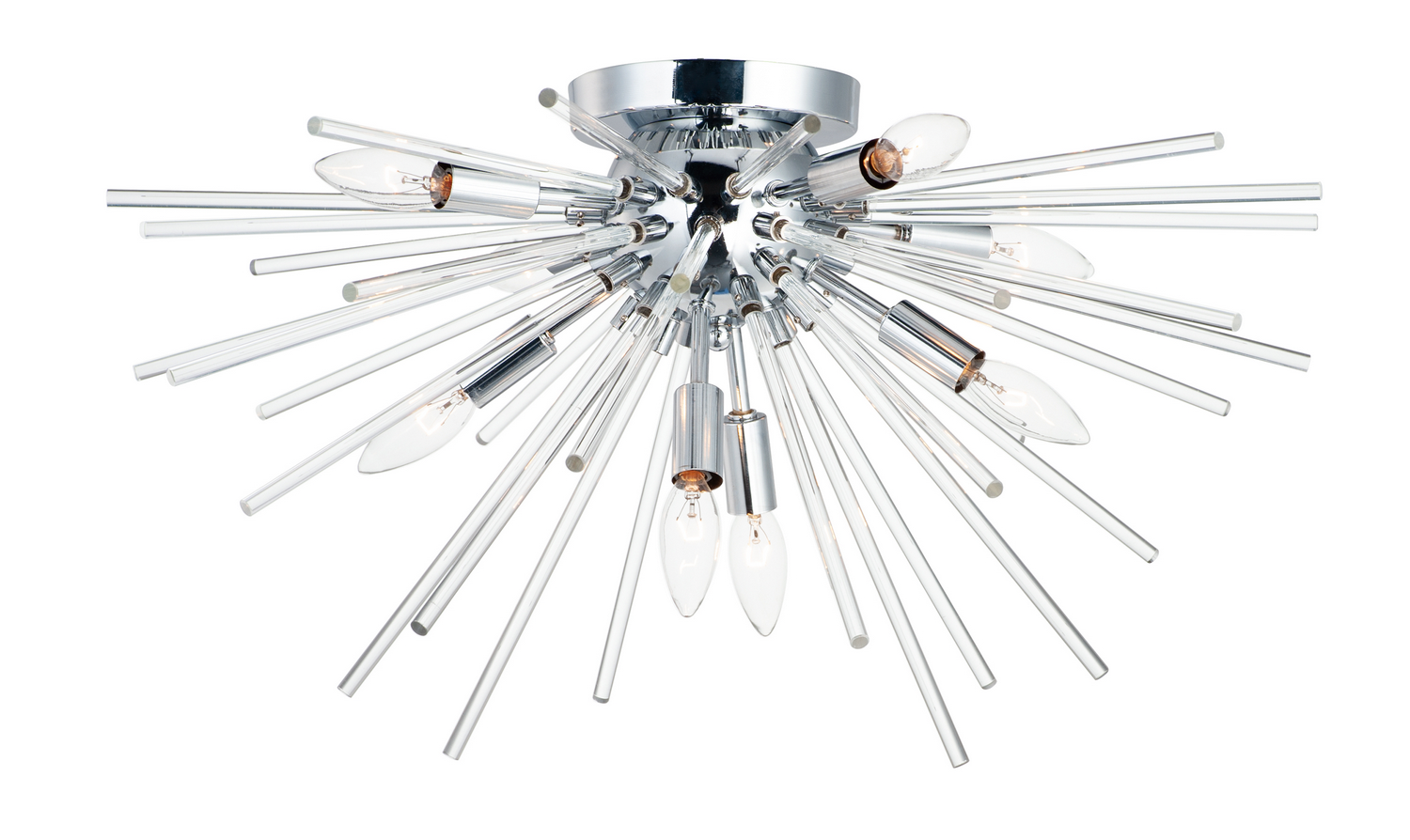 Eight Light Flush Mount from the Polaris collection by Maxim 28660CLPC