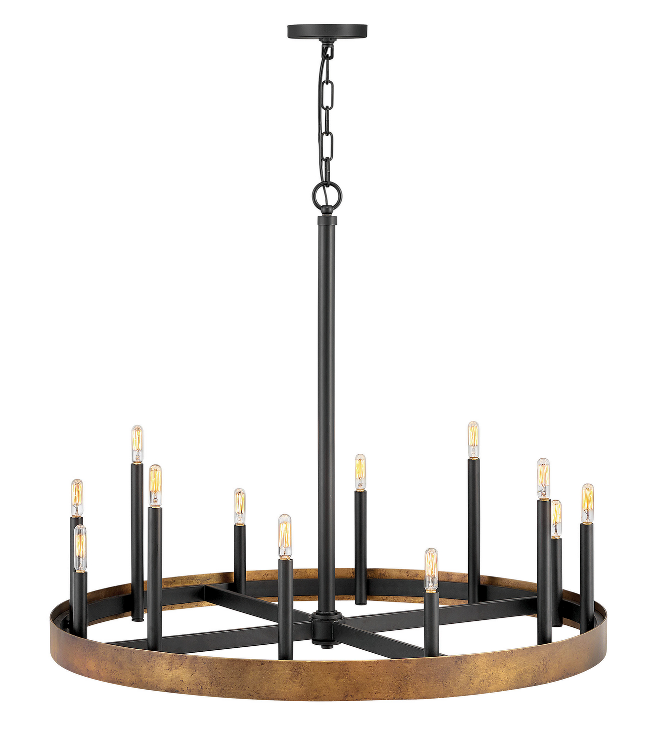 12 Light Chandelier from the Wells collection by Hinkley 3869WA