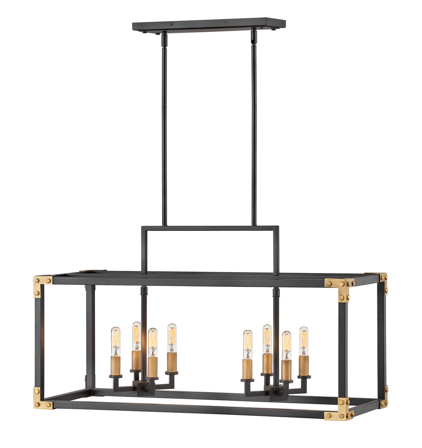 Eight Light Chandelier from the Louis collection by Hinkley 4298SK