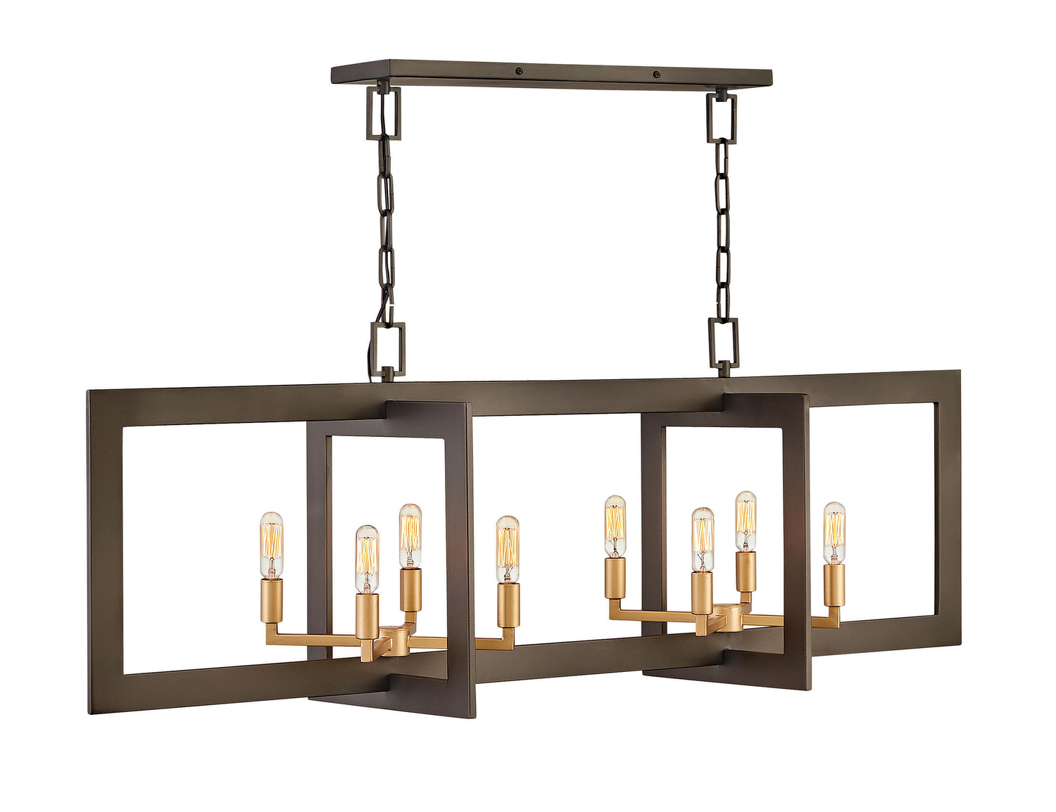 Eight Light Chandelier from the Anders collection by Hinkley 4348MM