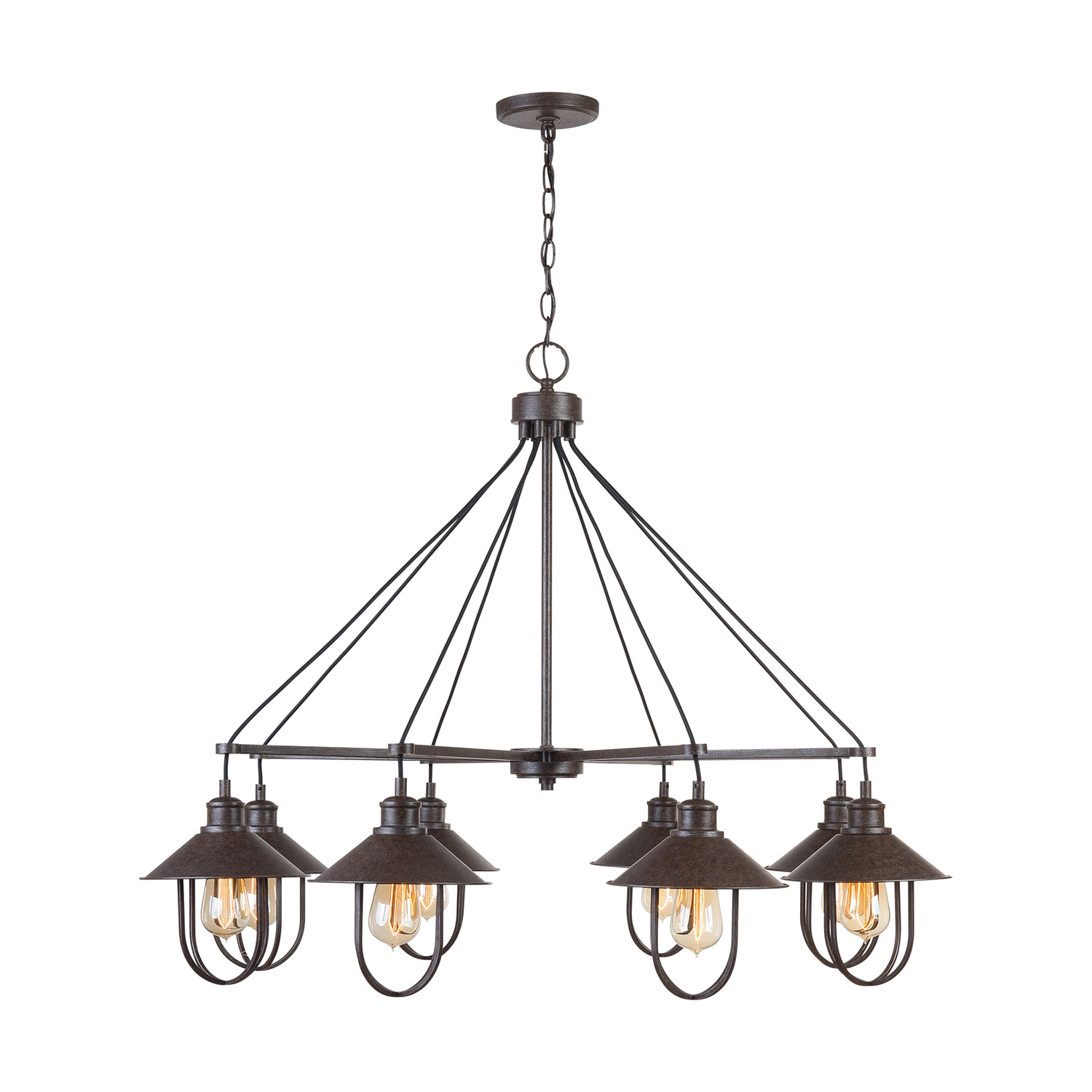 Eight Light Chandelier from the Pawley collection by Capital Lighting 430881MI