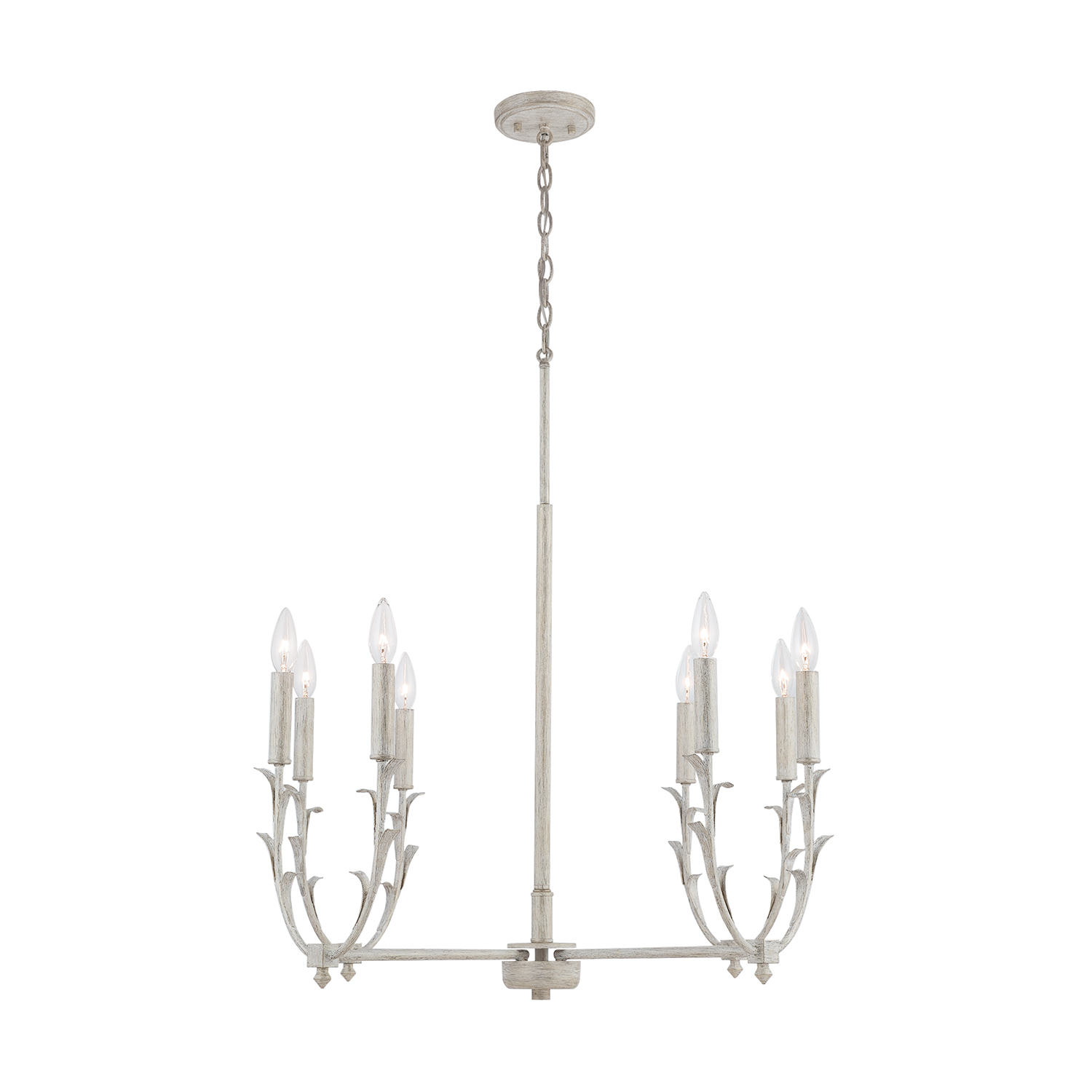 Eight Light Chandelier from the Jardin collection by Capital Lighting 431481WW