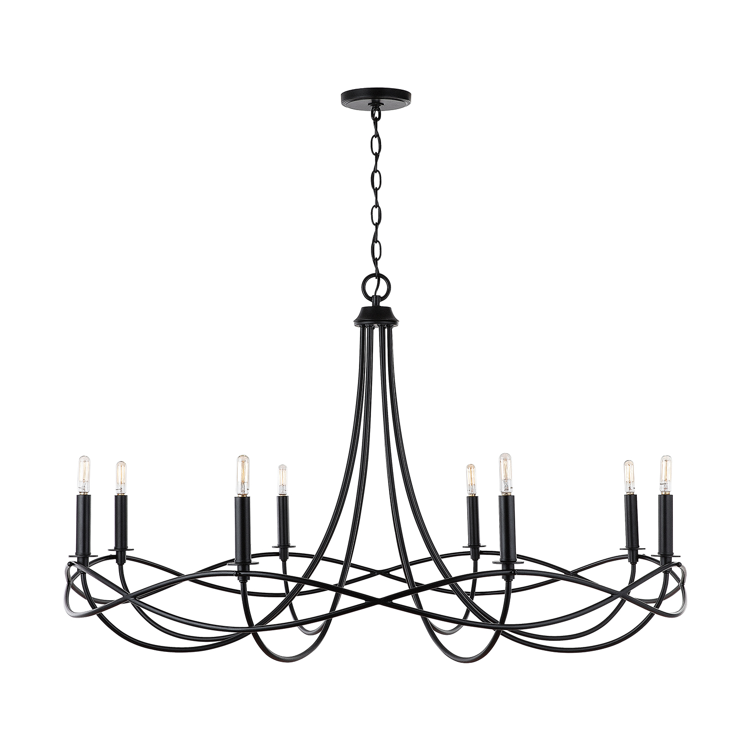 Eight Light Chandelier from the Sonnet collection by Capital Lighting 431681MB