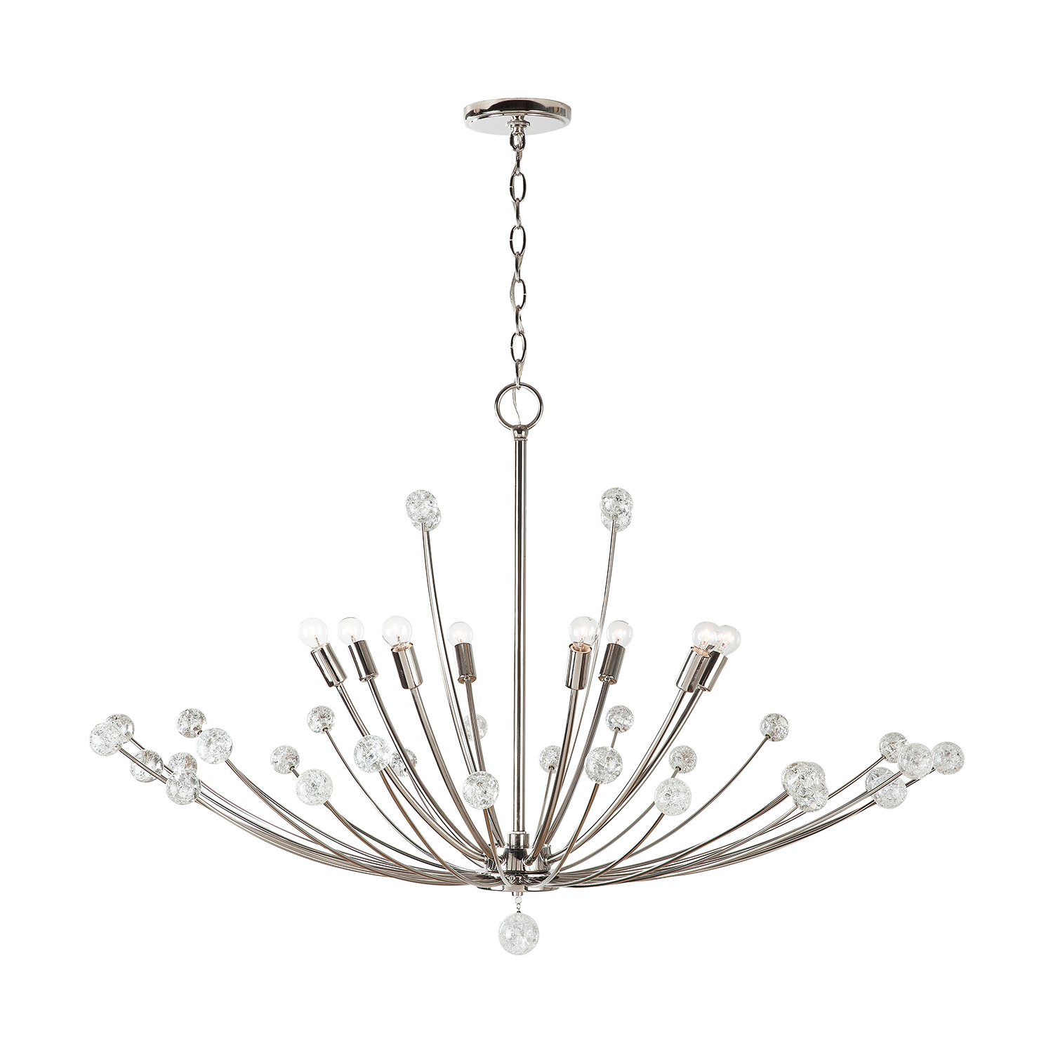 Eight Light Chandelier from the Audra collection by Capital Lighting 431781PN
