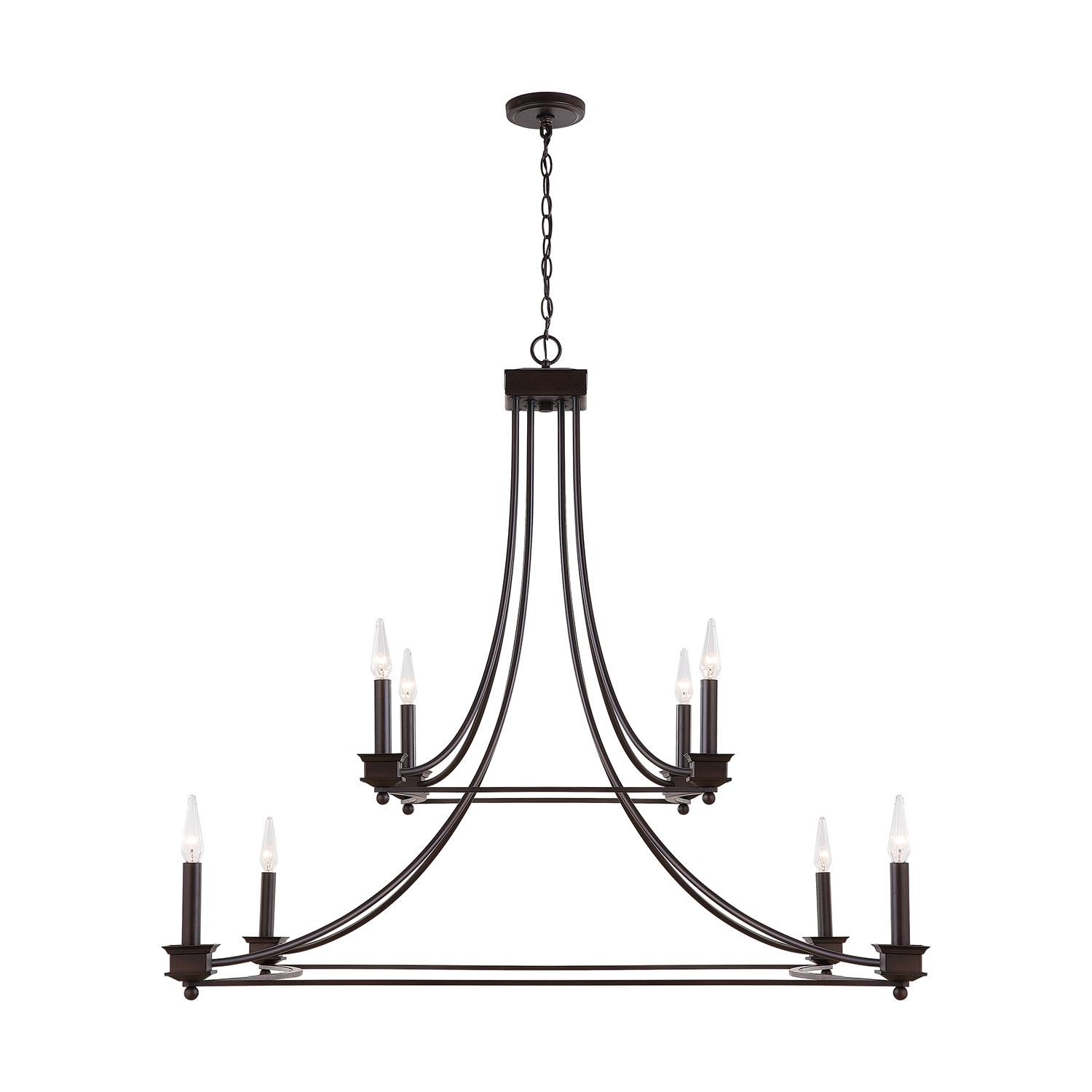 Eight Light Chandelier from the Marlow collection by Capital Lighting 431881OB