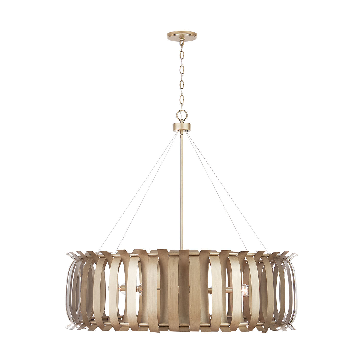 Eight Light Chandelier from the Cayden collection by Capital Lighting 432781AP