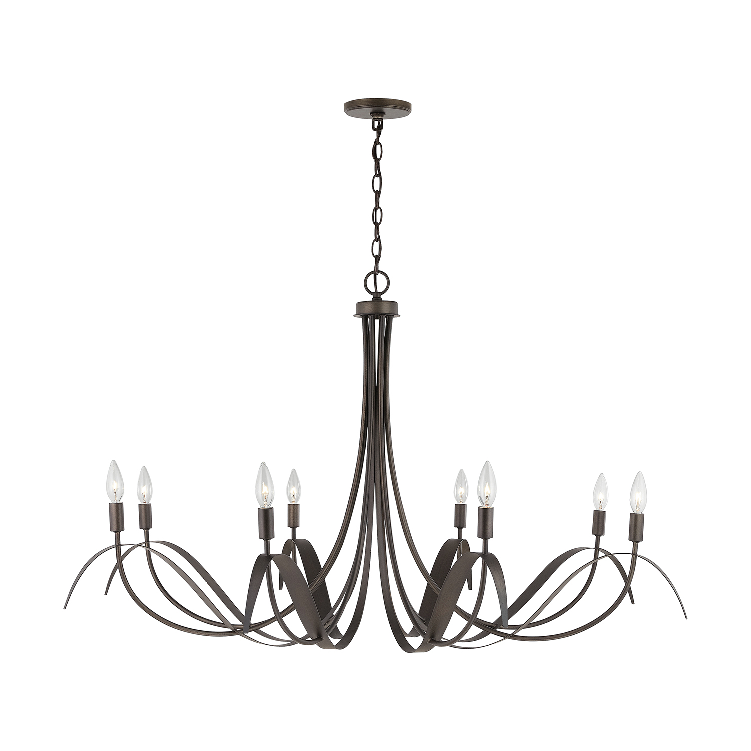 Eight Light Chandelier from the Tess collection by Capital Lighting 434781TB